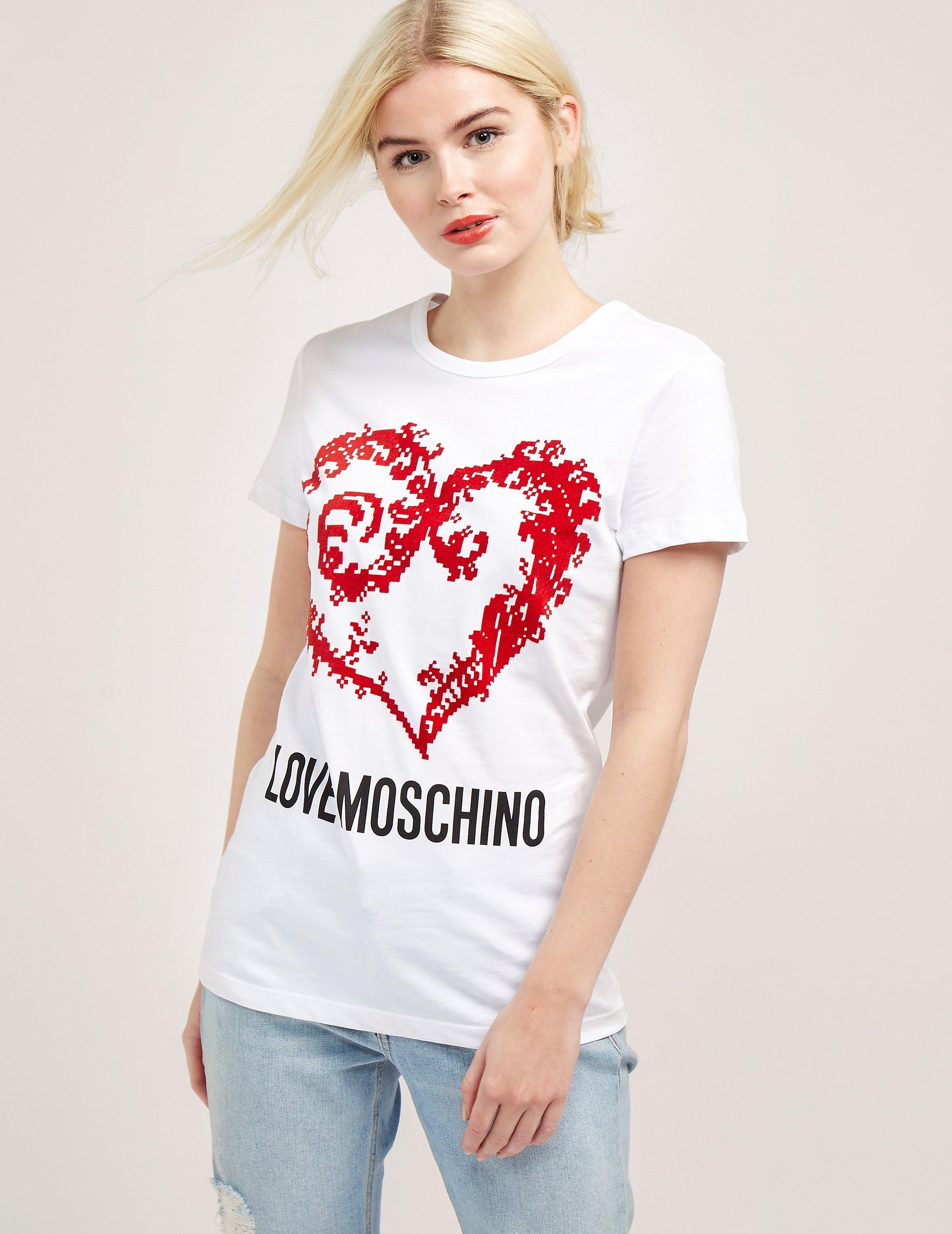 Love Moschino Heart Short Sleeve T-Shirt