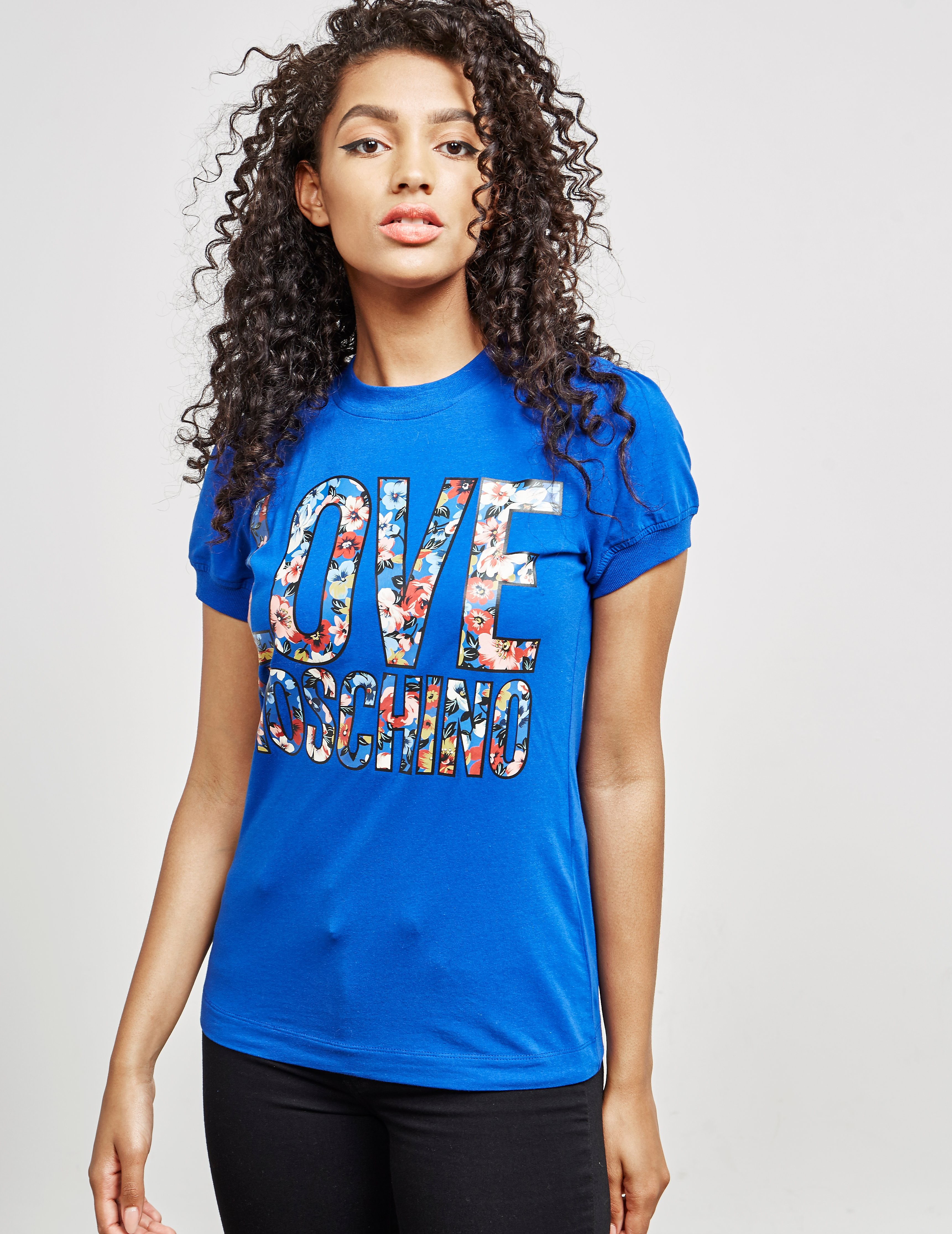 Love Moschino Floral Short Sleeve T-Shirt