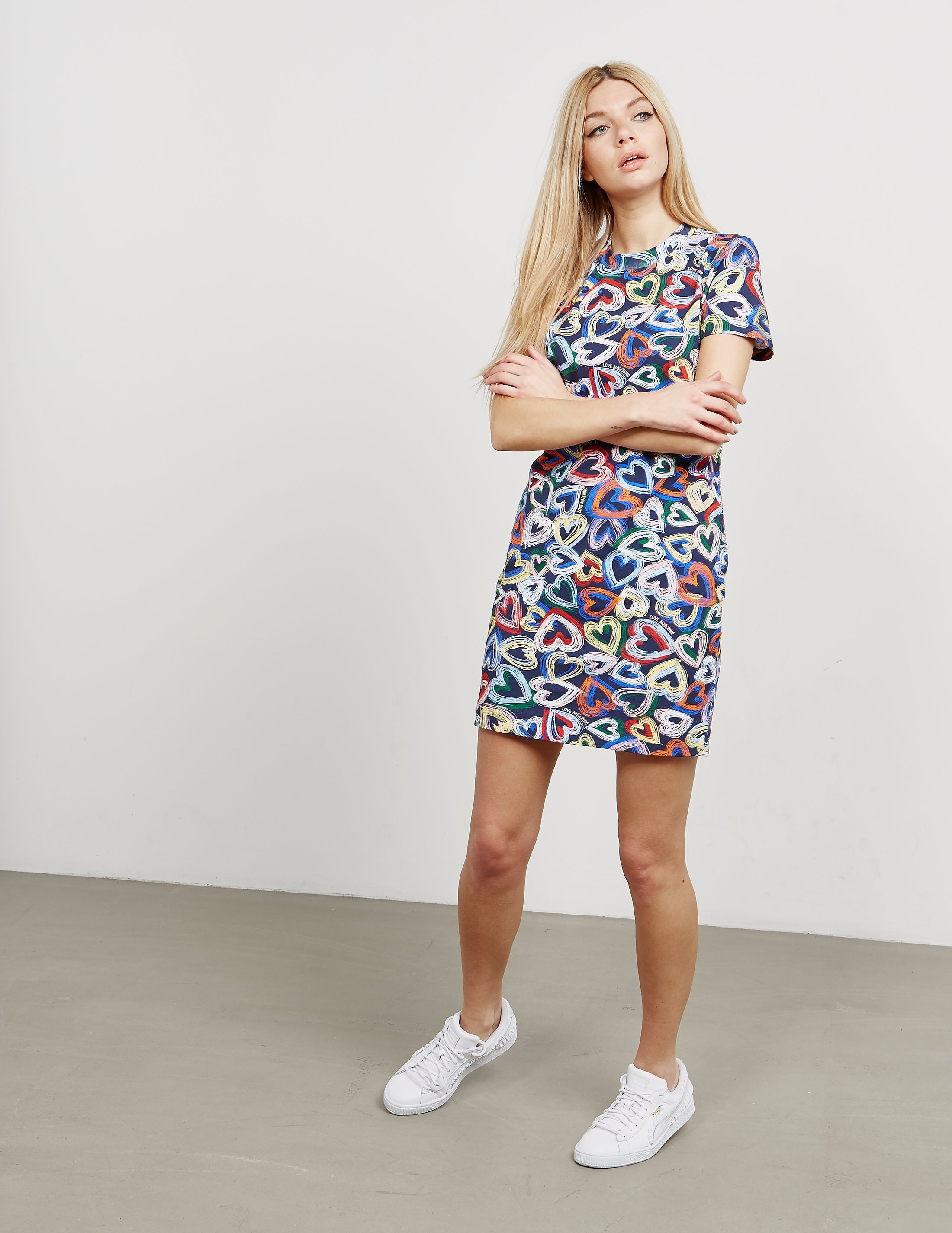 Love Moschino Heart Print Dress