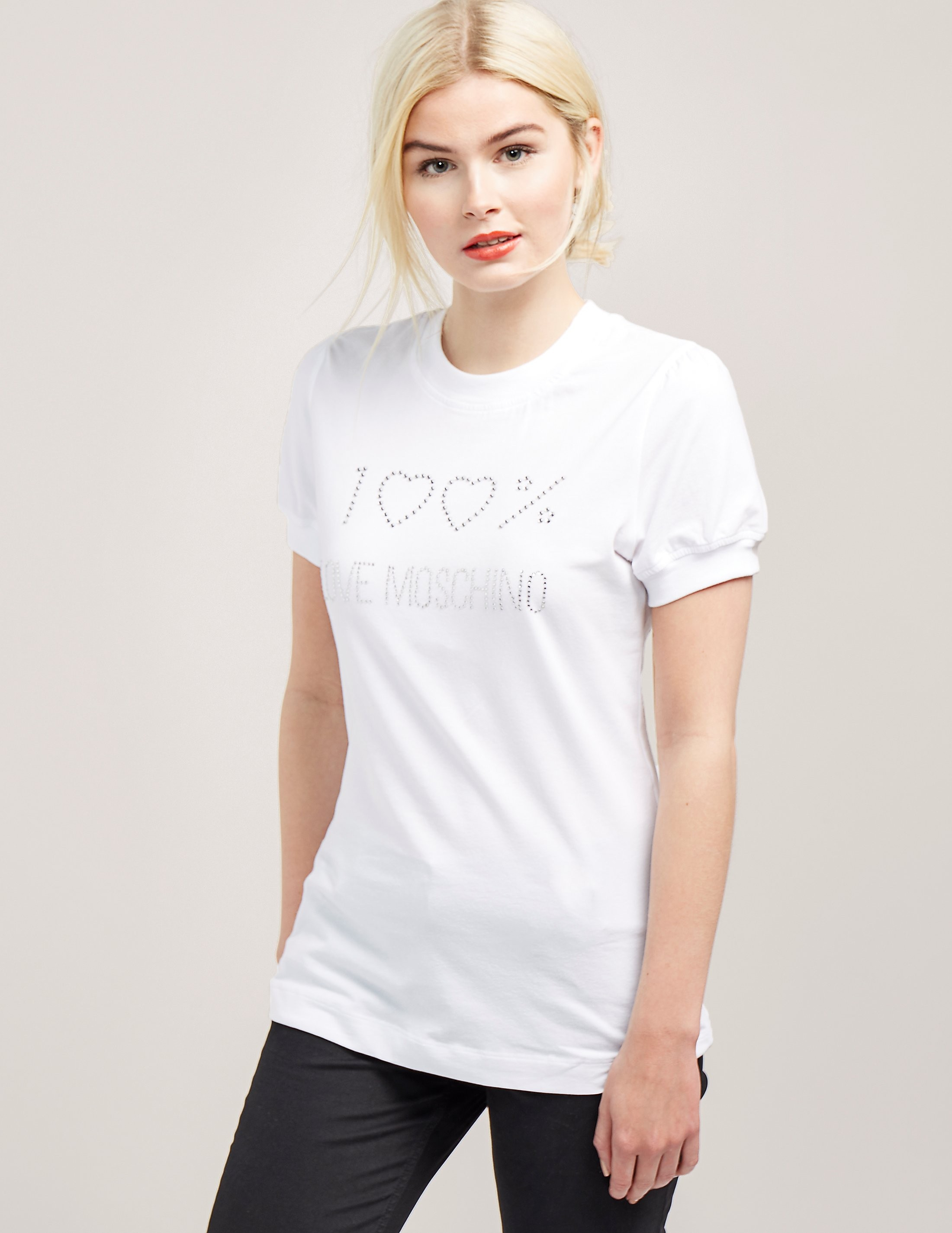 Love Moschino Diamante Short Sleeve T-Shirt