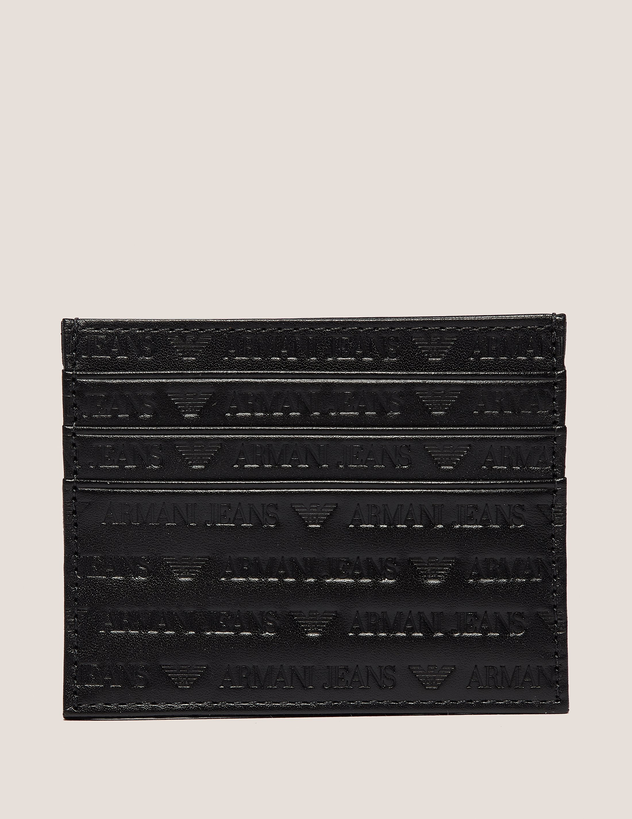 Armani Jeans Embossed Card Holder