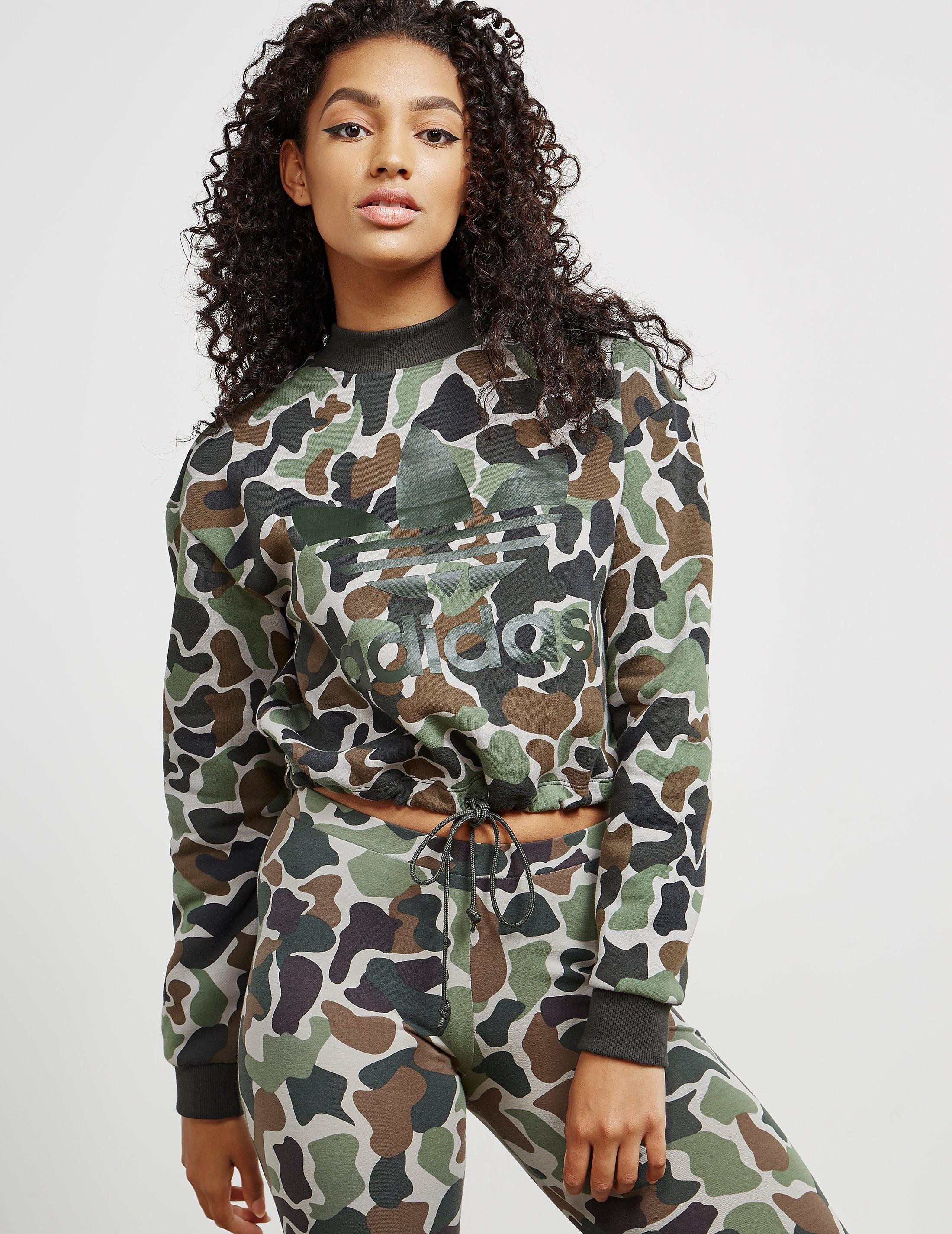 adidas Originals Camouflage Crop Top