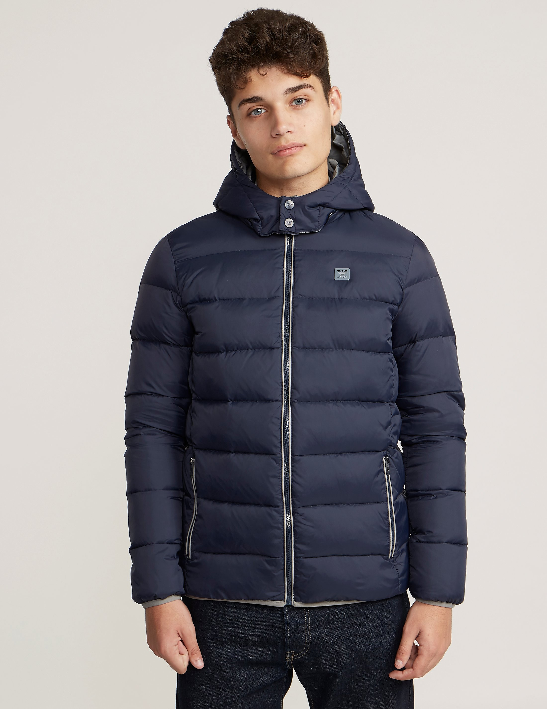 Armani Jeans Quilted Hood Jacket
