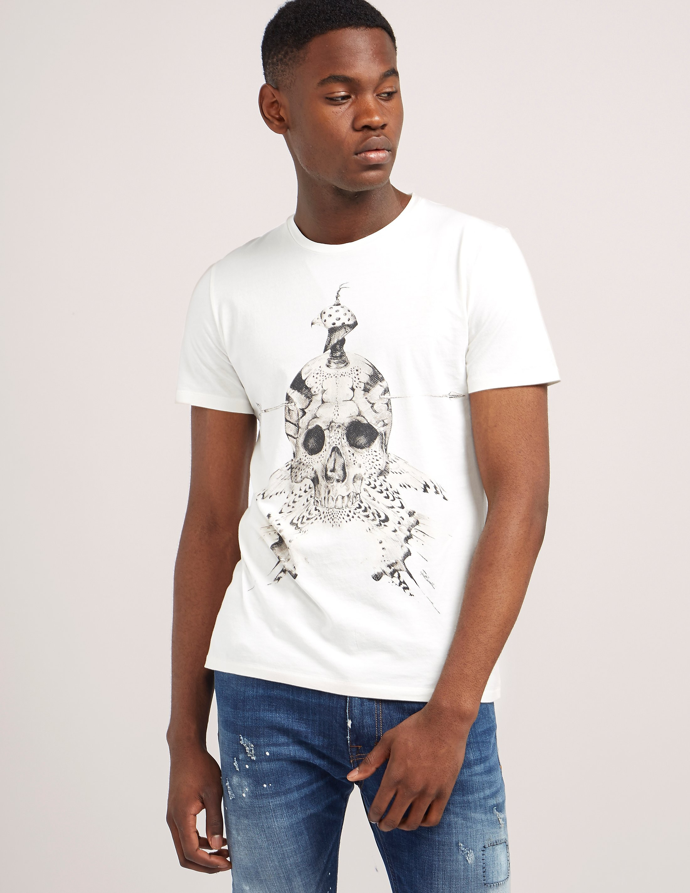 Just Cavalli Large Skull Print T-Shirt