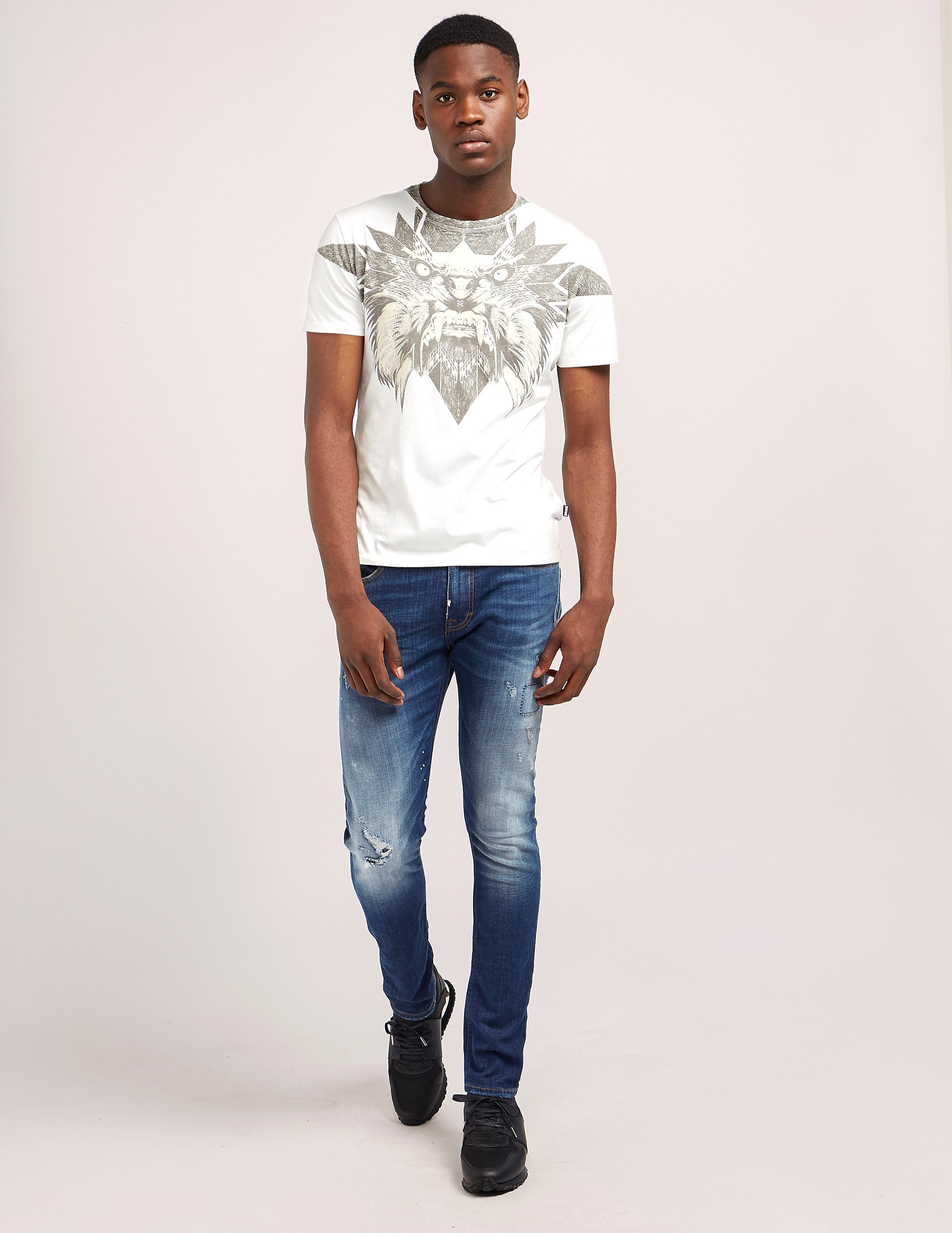 Just Cavalli Lion Star Print Short Sleeve T-Shirt