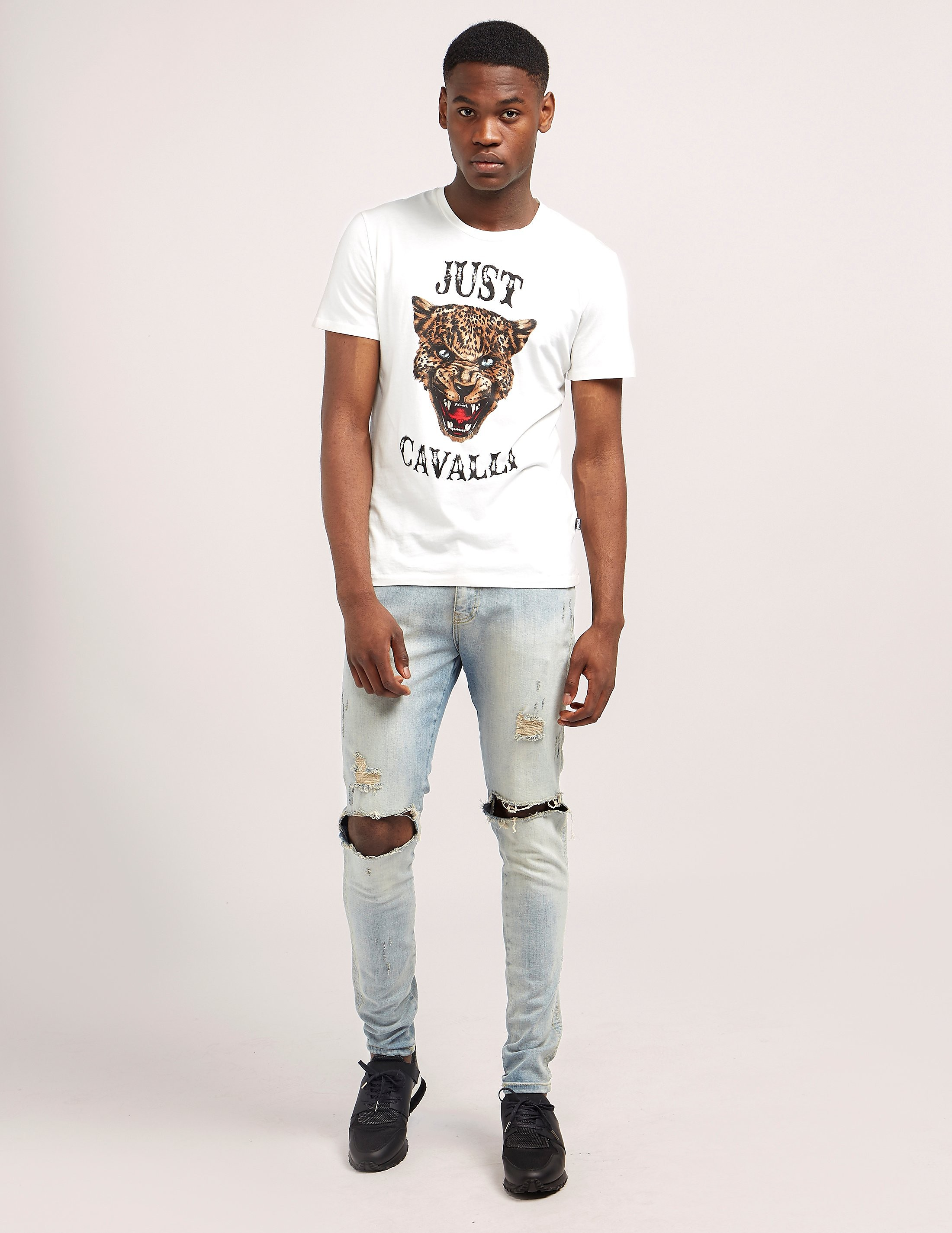 Just Cavalli Leopard Short Sleeve T-Shirt