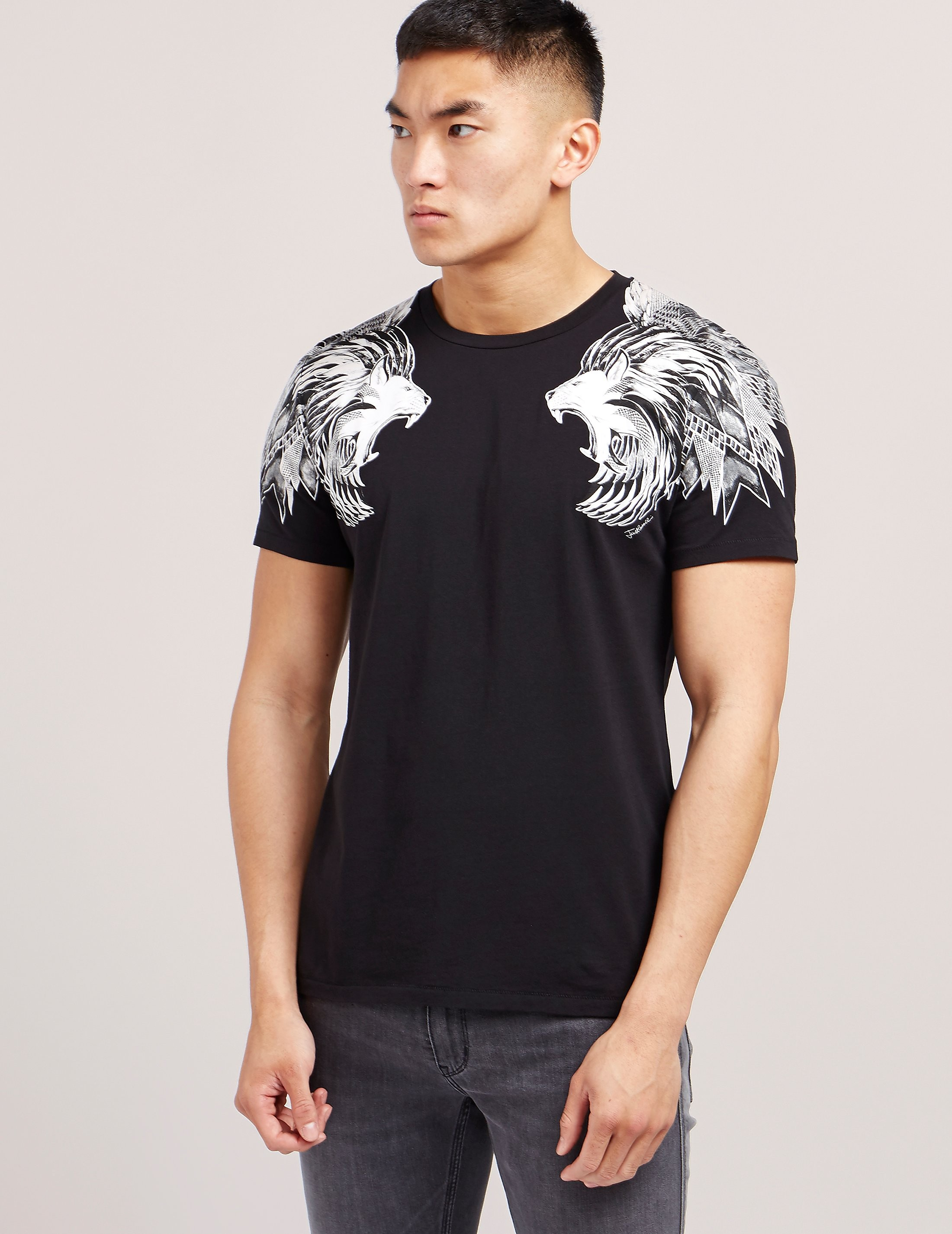 Just Cavalli Double Lion Short Sleeve T-Shirt