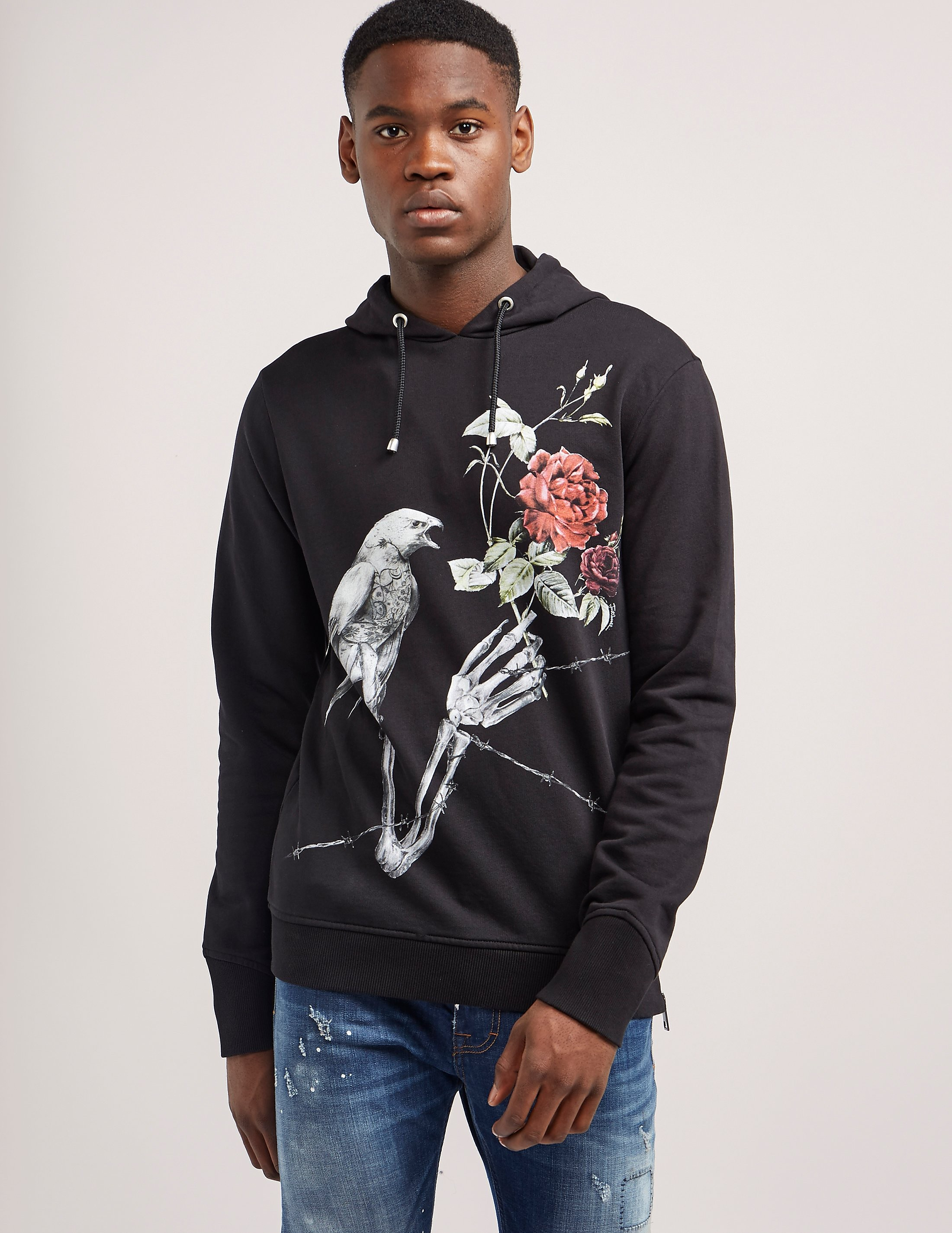 Just Cavalli Rose Print Hoody