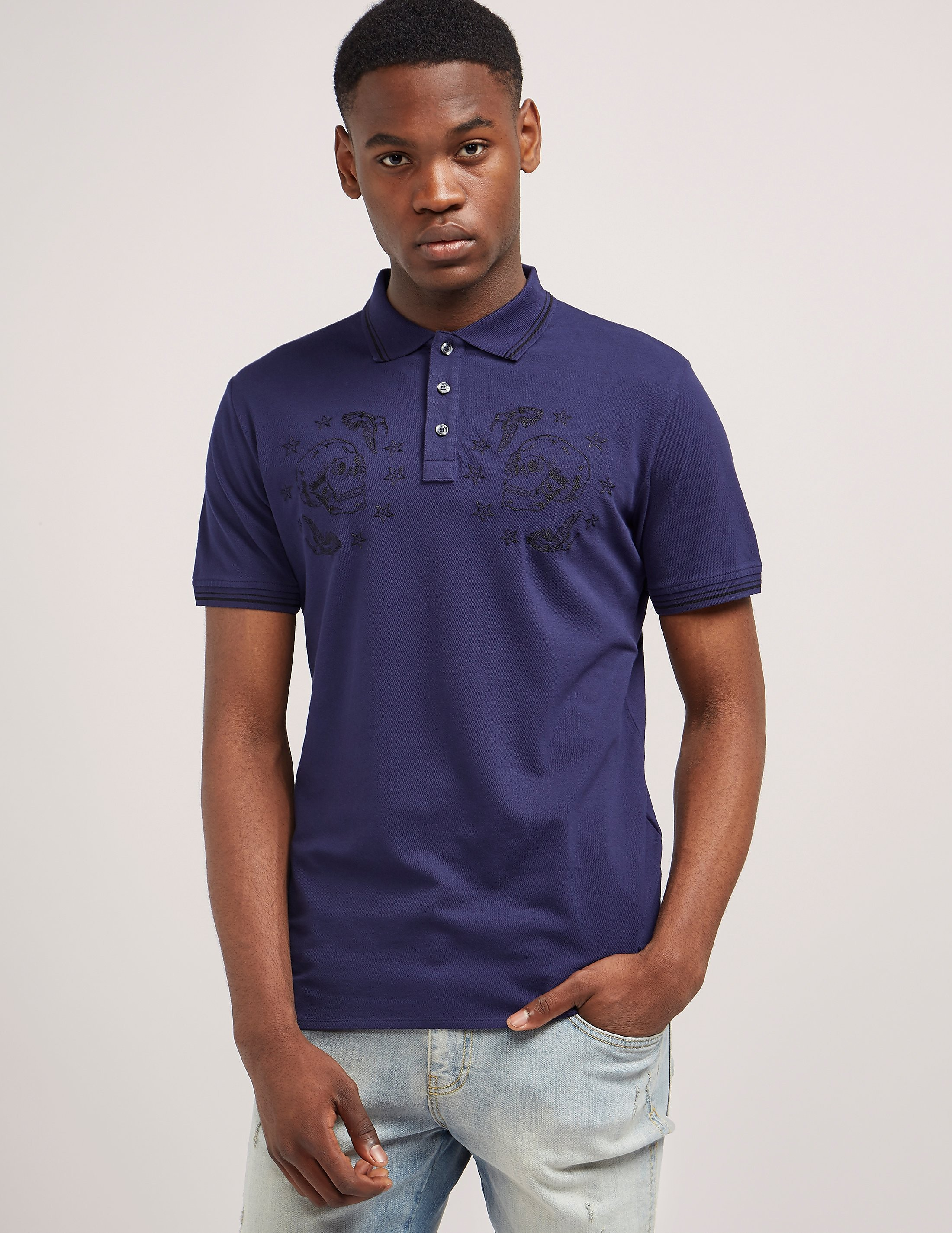 Just Cavalli Skull Short Sleeve Polo Shirt
