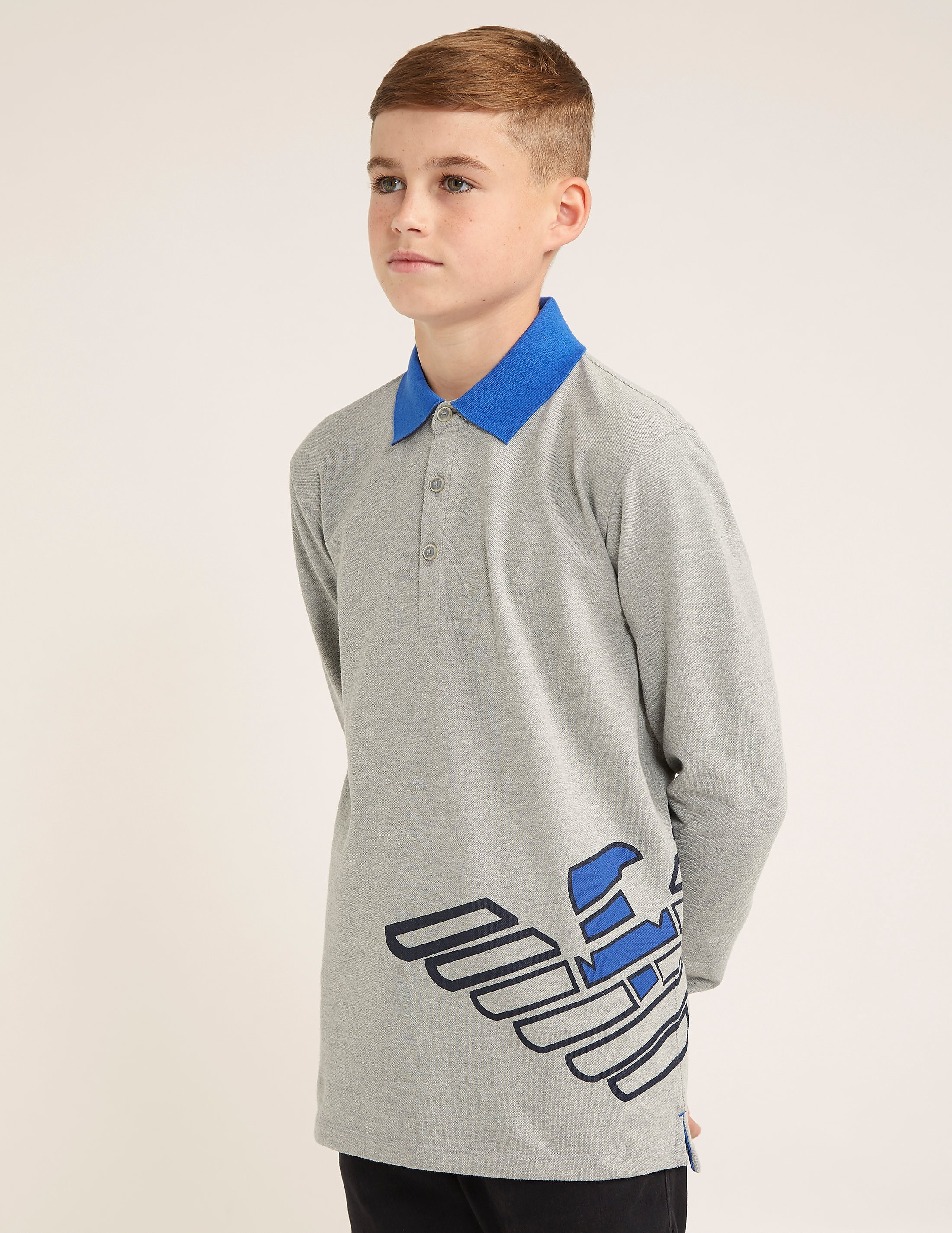 Armani Jeans Long Sleeve Polo Shirt