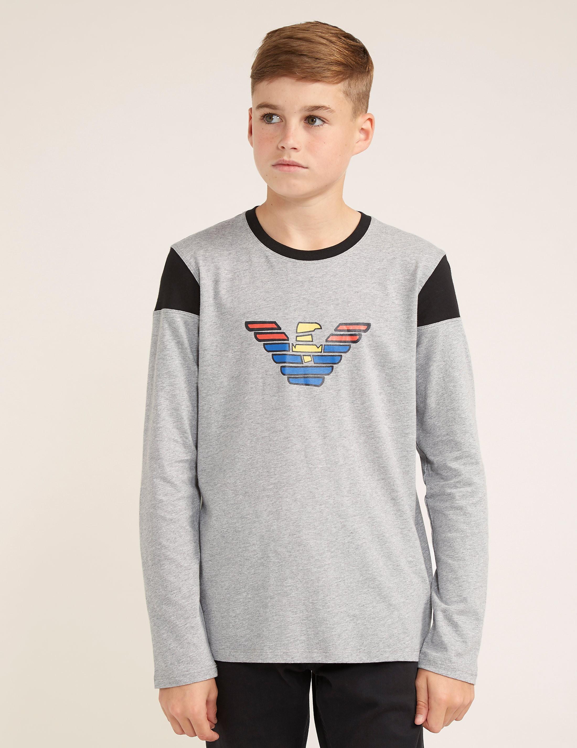 Armani Jeans Large Logo Long Sleeve T-Shirt