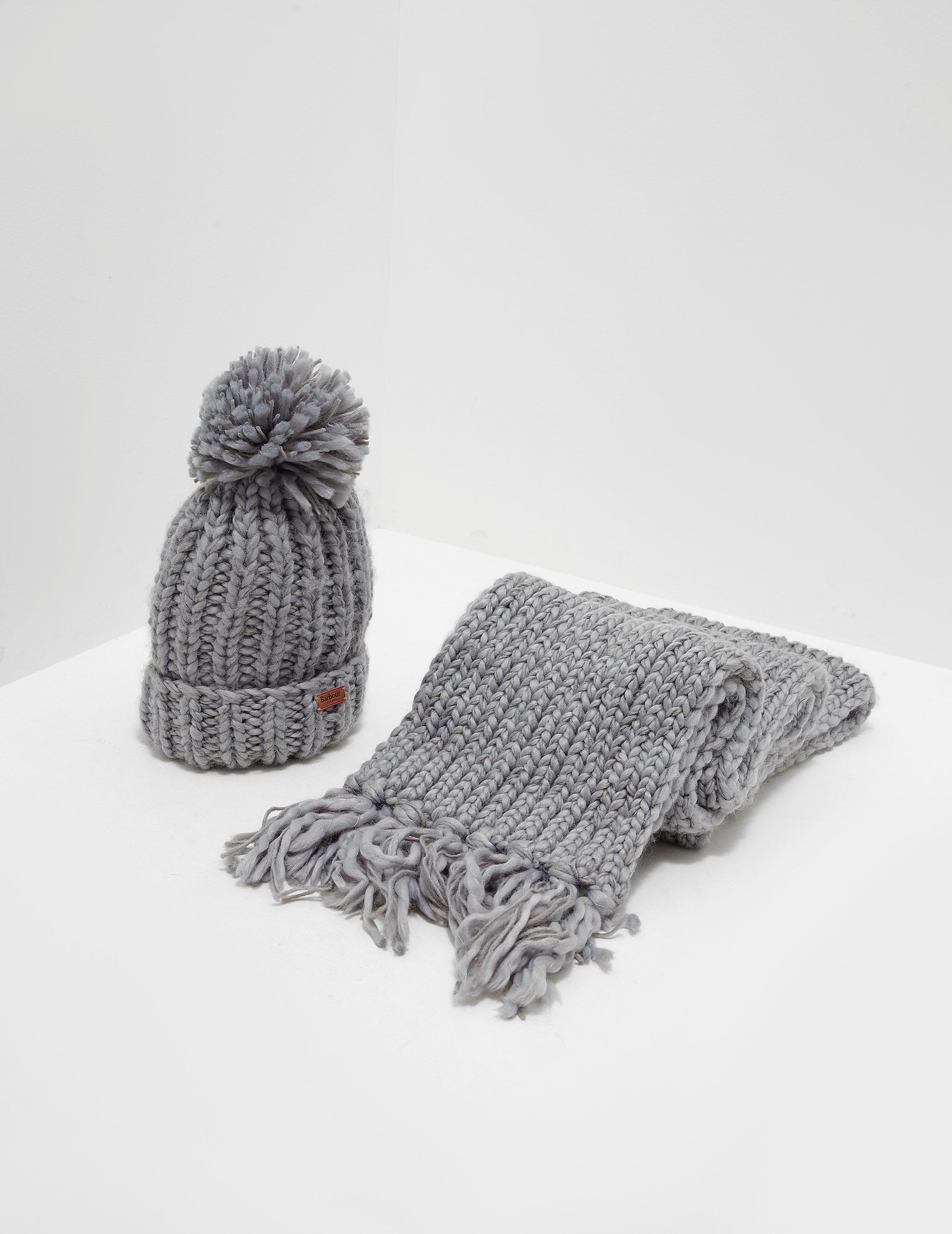 Barbour Chunky Hat and Scarf Set