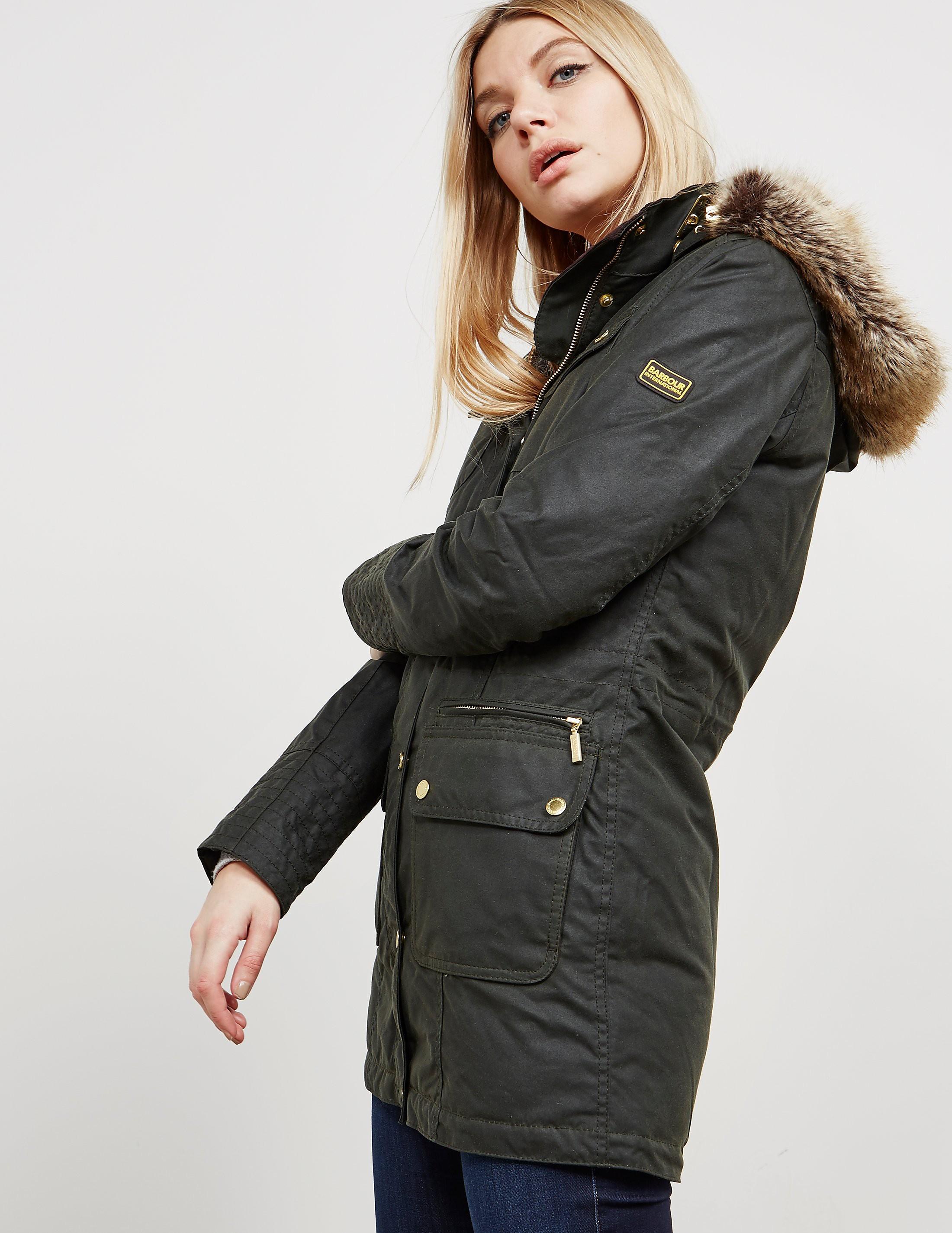 Barbour International Malloy Wax Padded Jacket