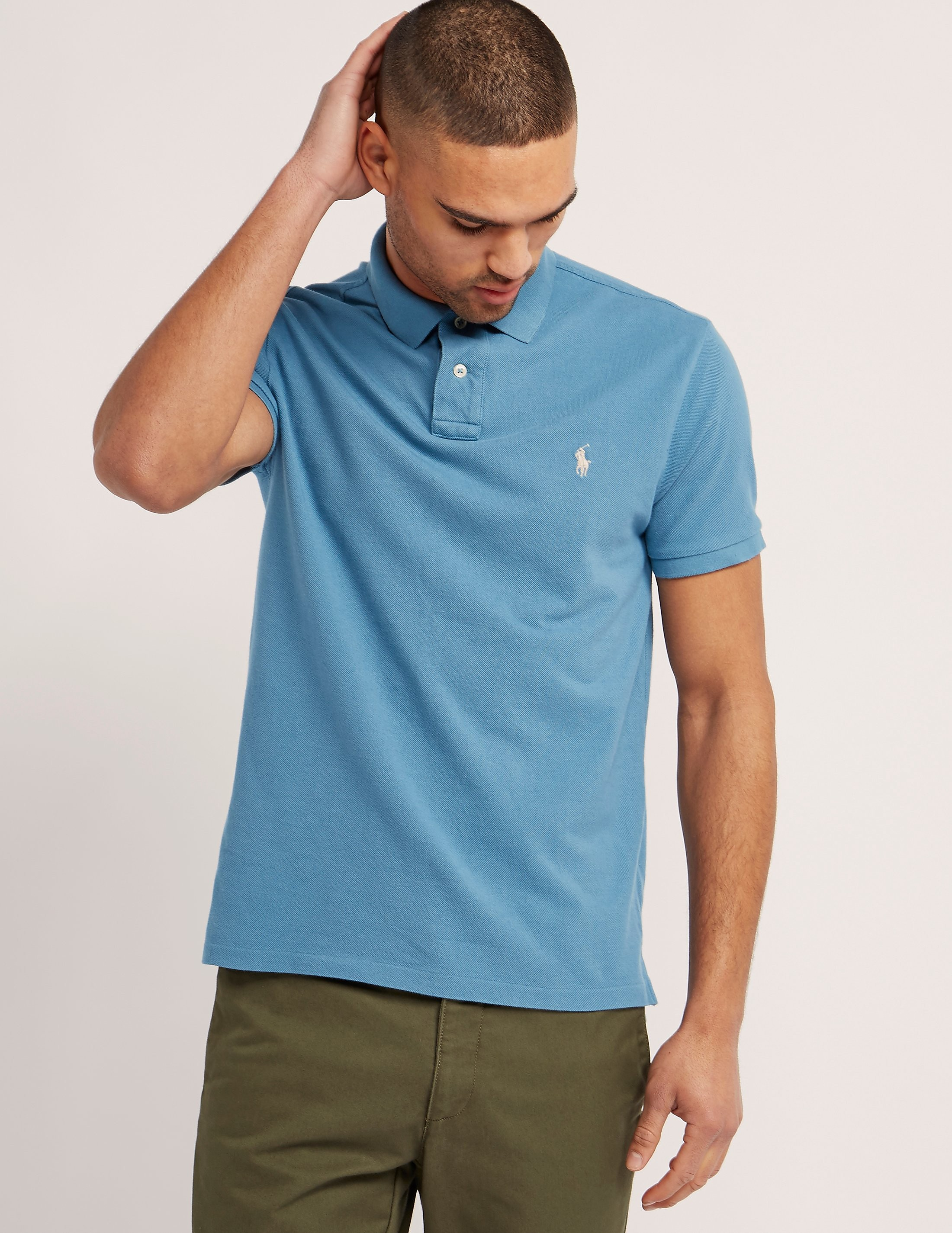 Polo Ralph Lauren Weathered Mesh Polo Shirt