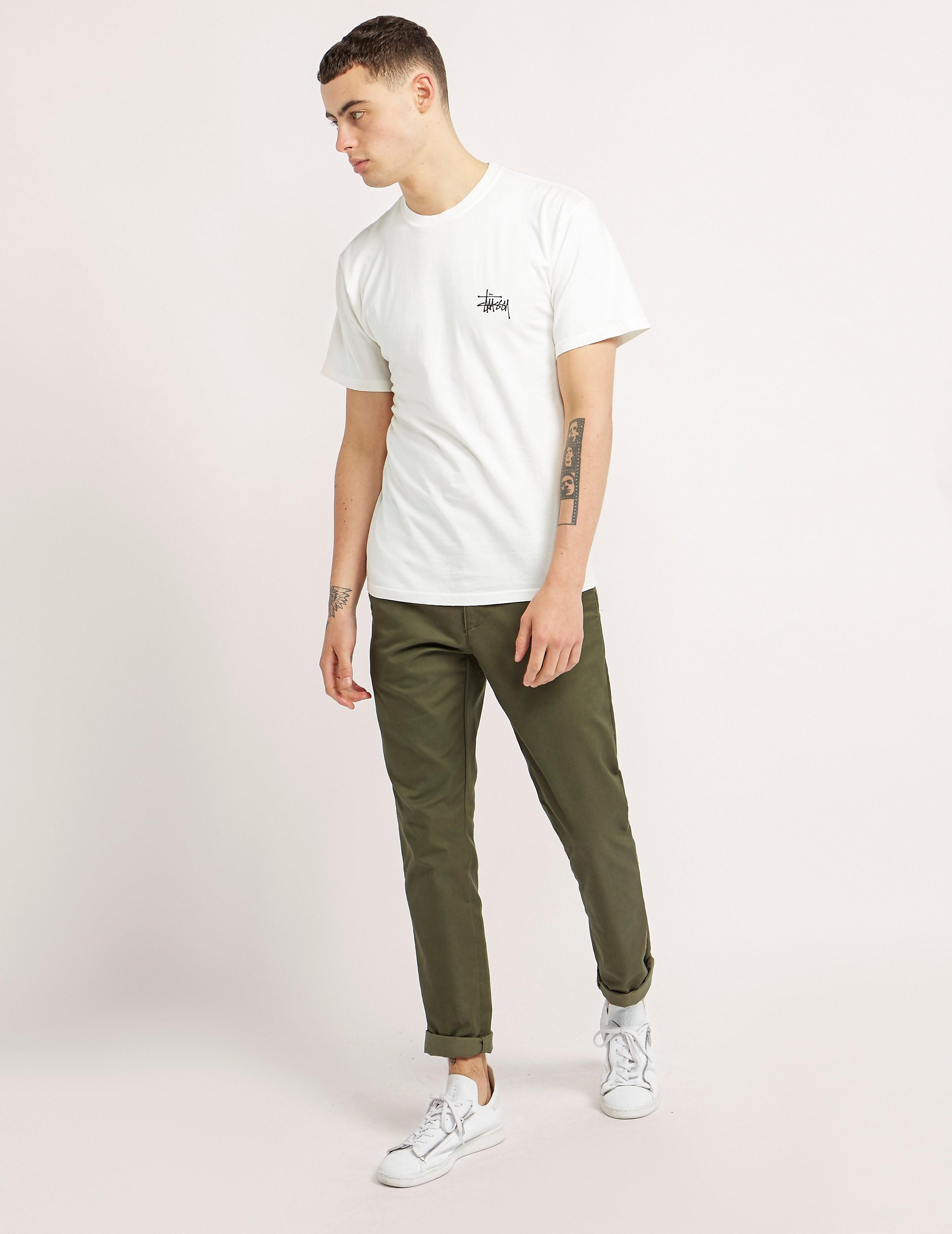 Stussy Basic Pigment Dyed Short Sleeve T-Shirt