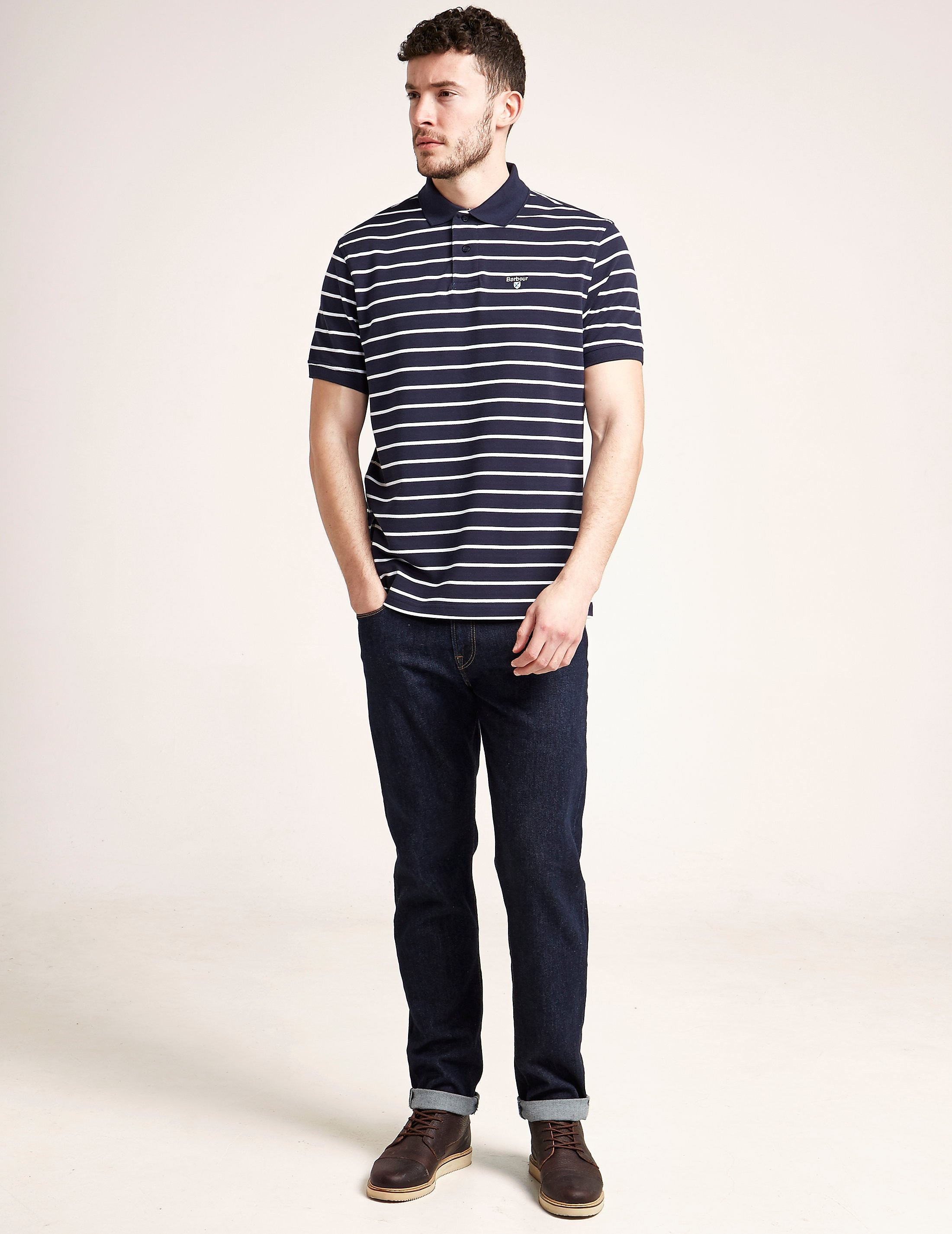 Barbour Stripe Short Sleeve Polo Shirt