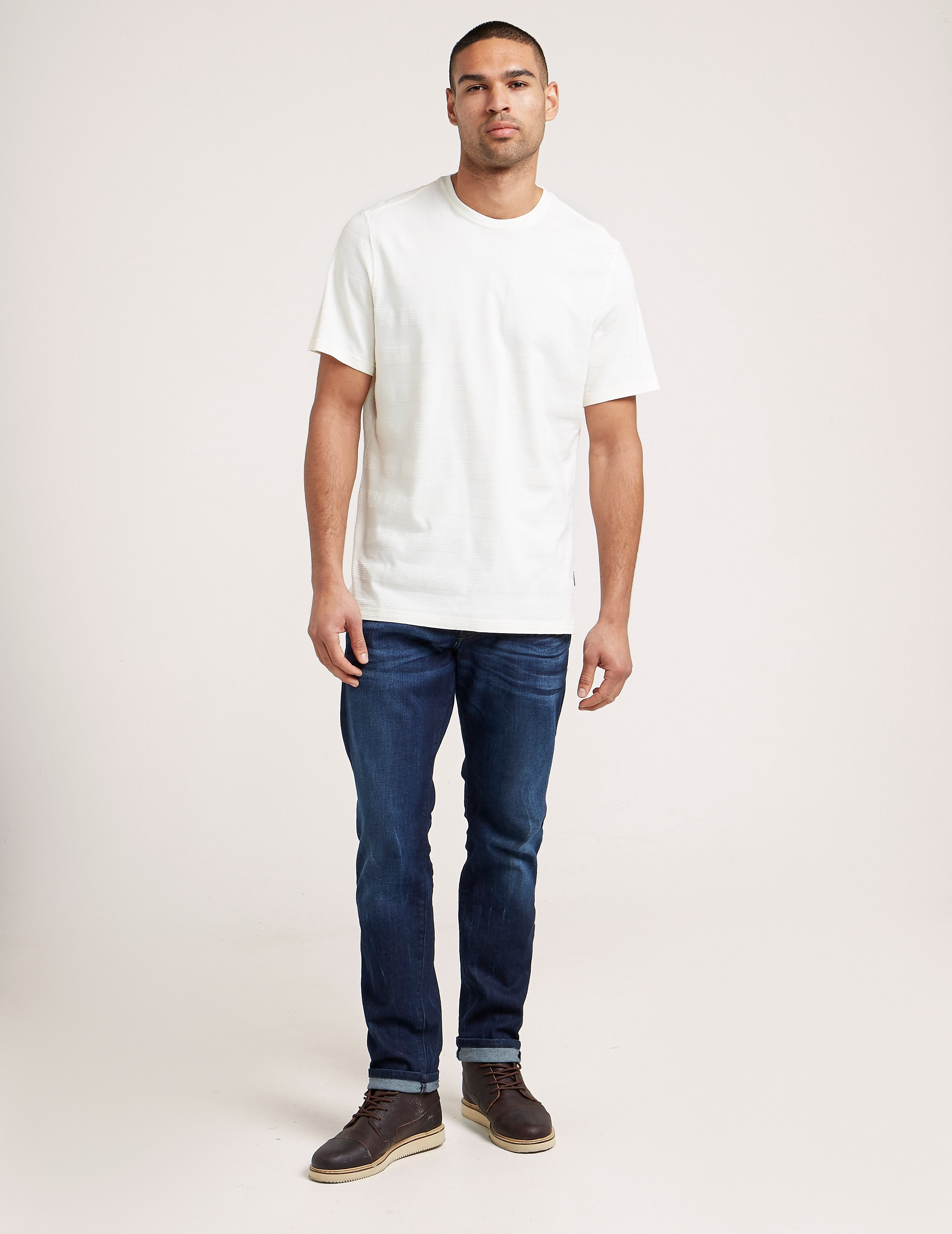 Barbour Textured Striped Short Sleeve T-Shirt