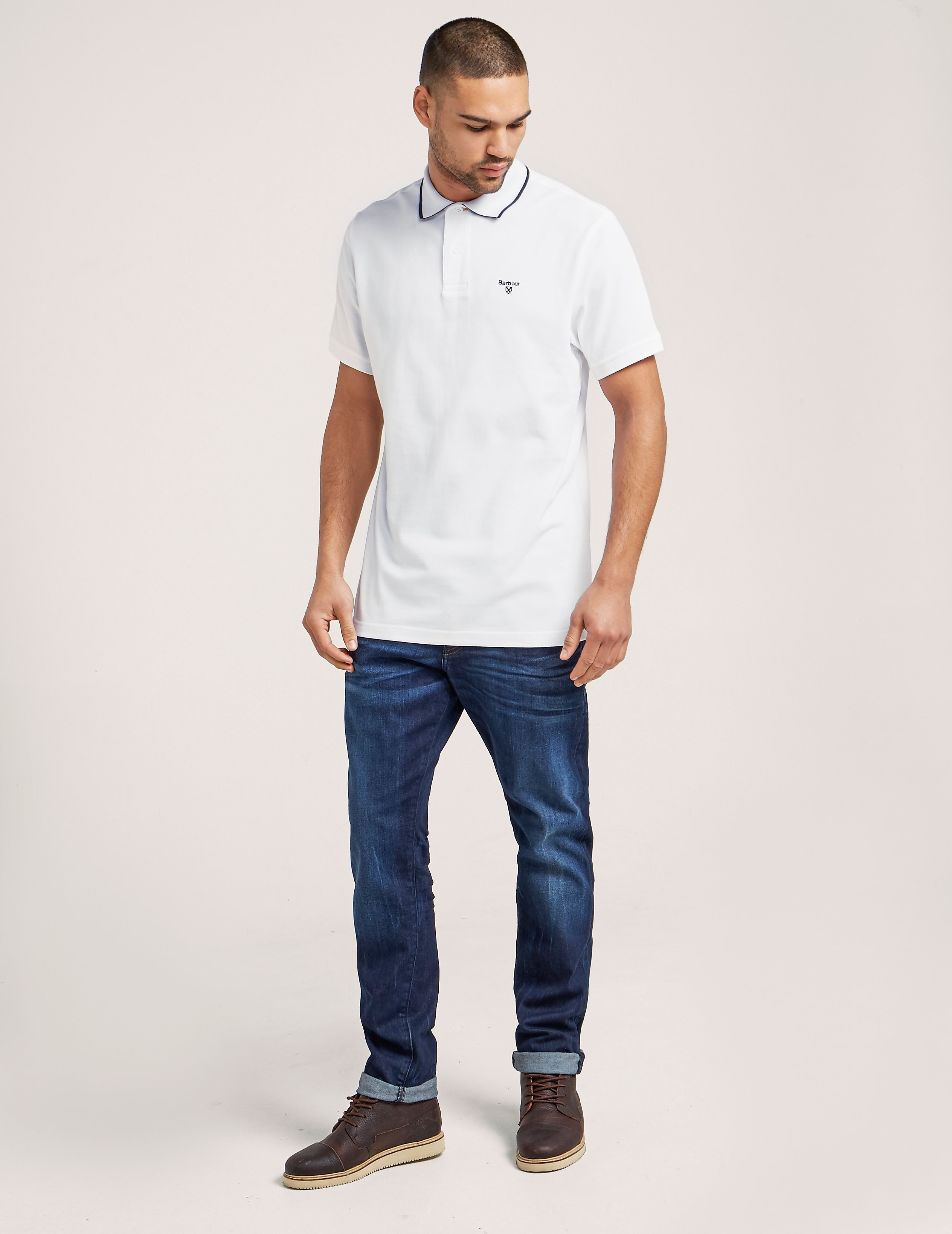 Barbour Tipped Short Sleeve Polo Shirt