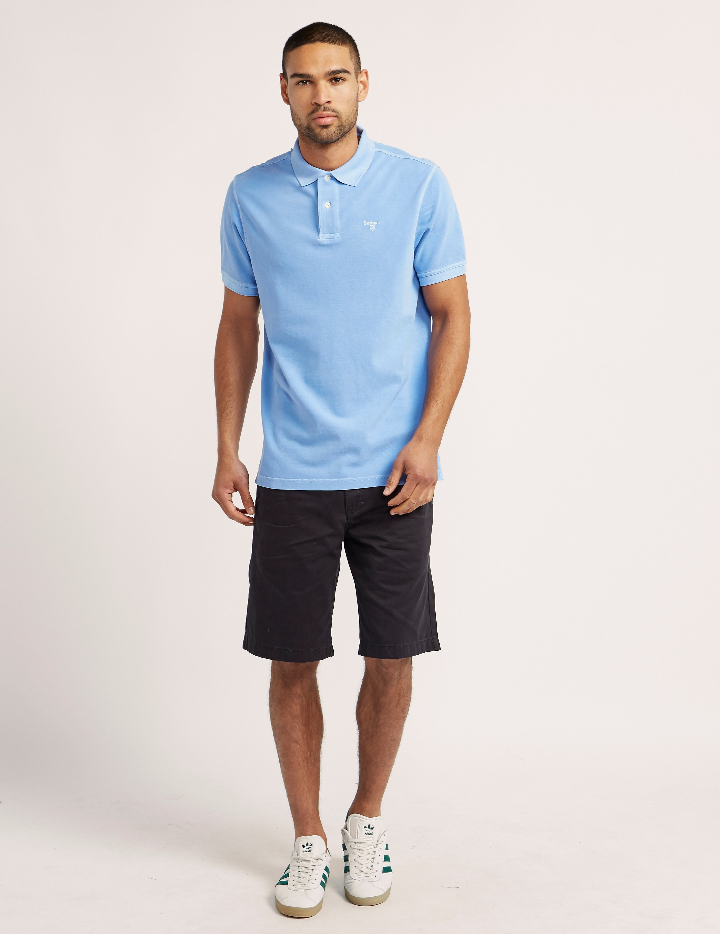 Barbour Washed Short Sleeve Polo Shirt