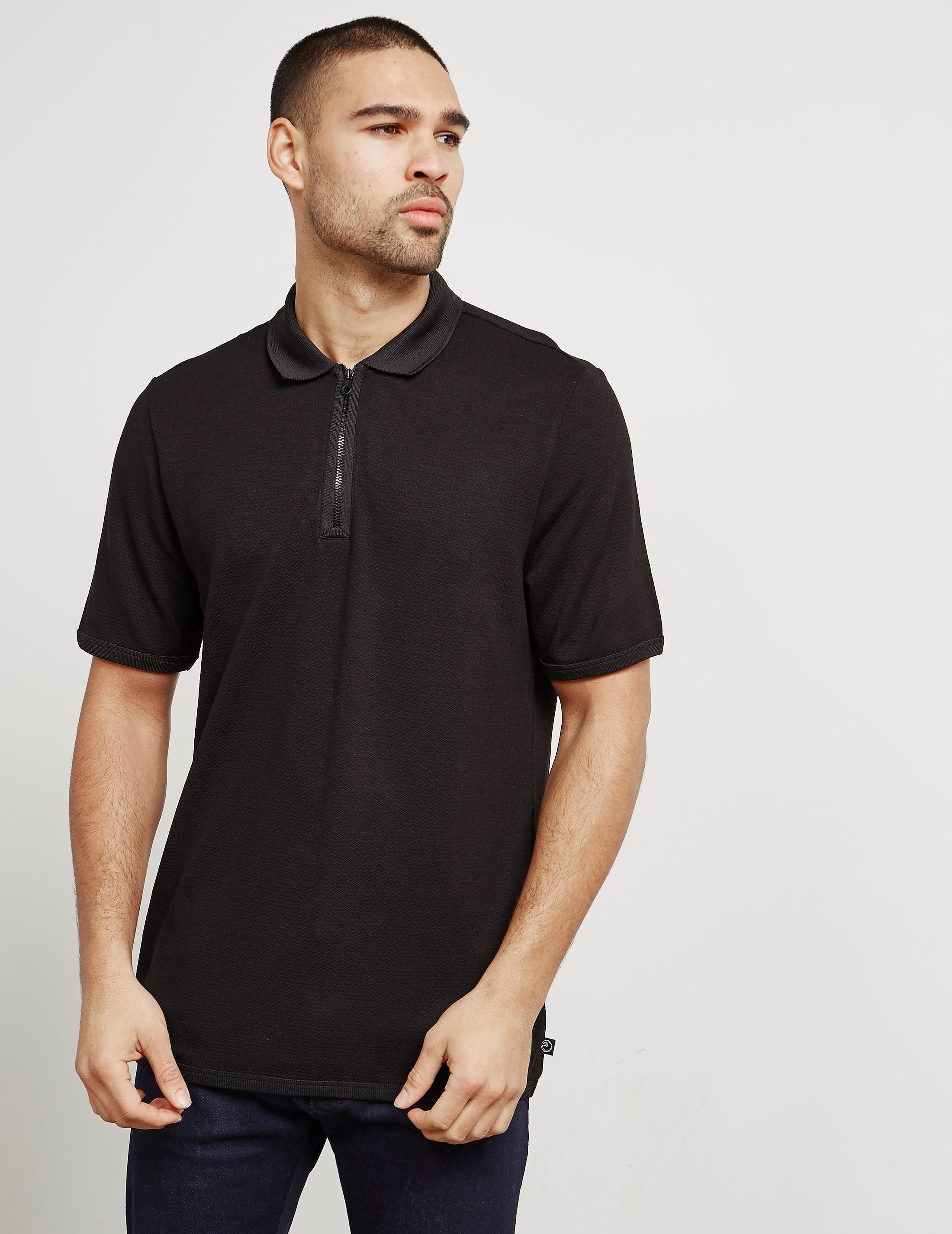 Armani Collezioni Zip Polo Shirt