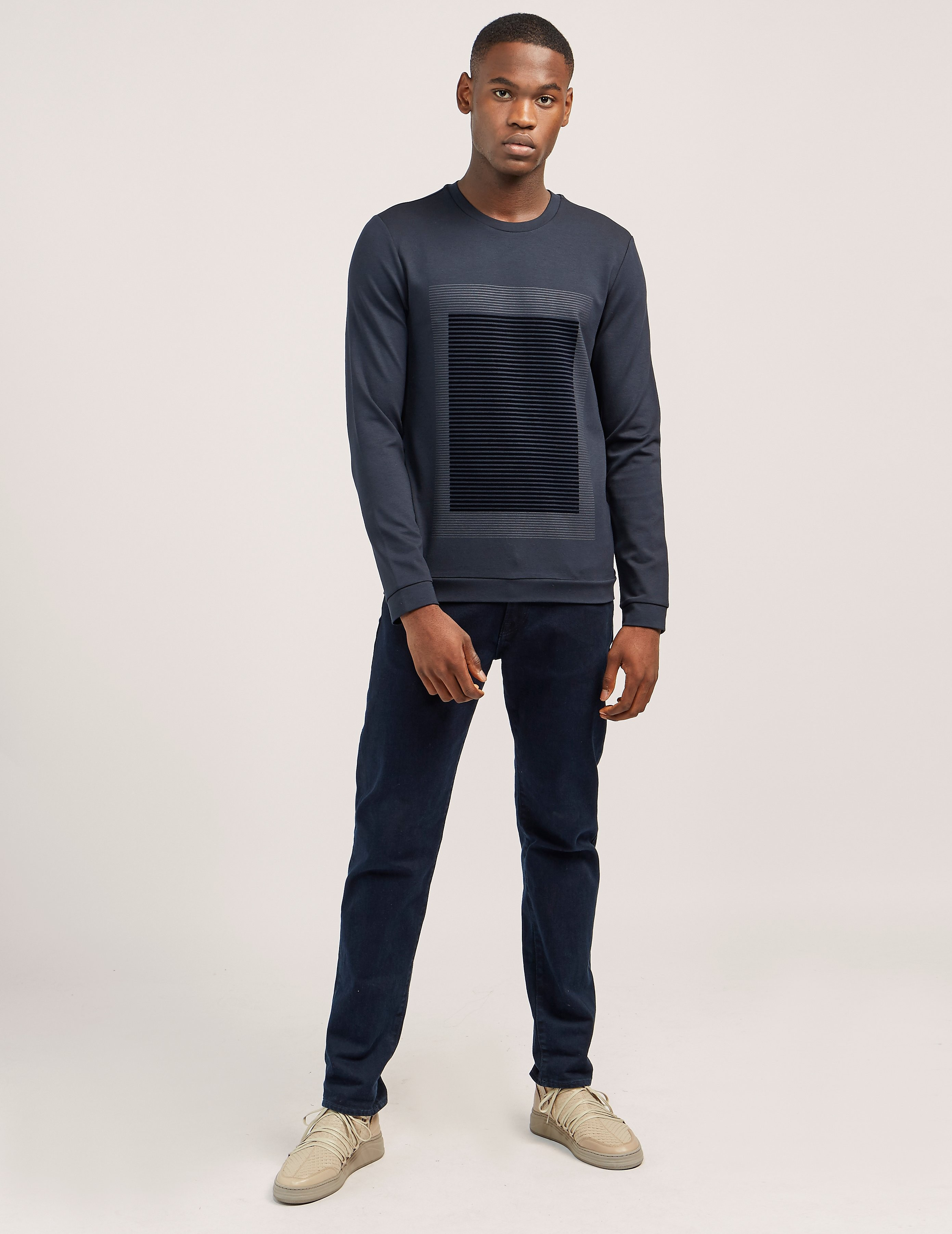 Armani Collezioni Flocked Sweatshirt