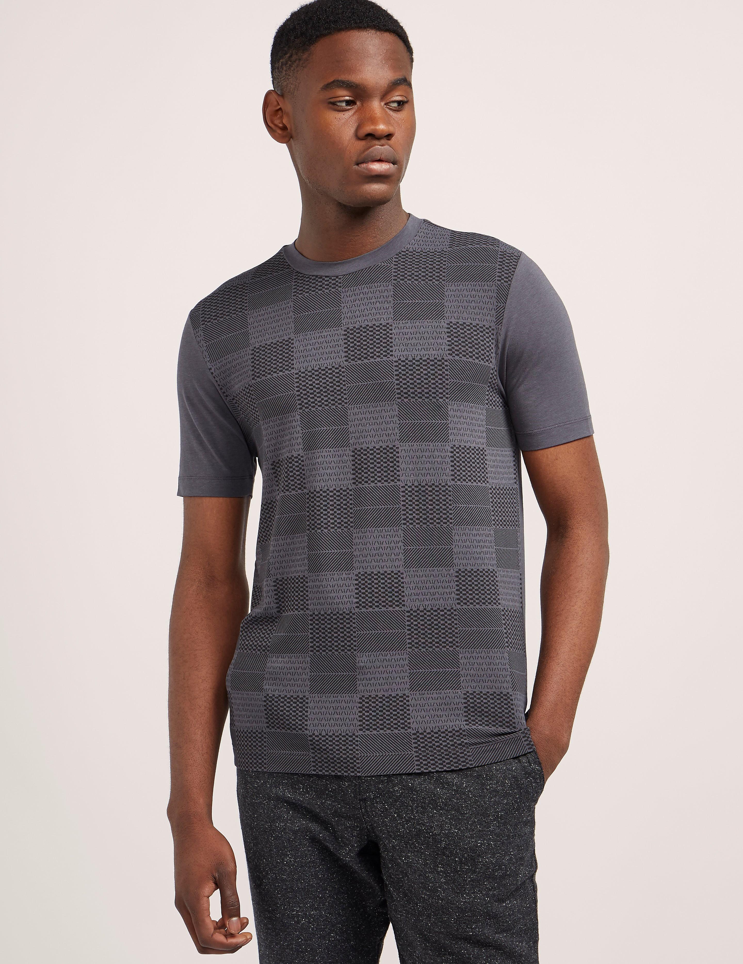 Armani Collezioni Square Print Short Sleeve T-Shirt