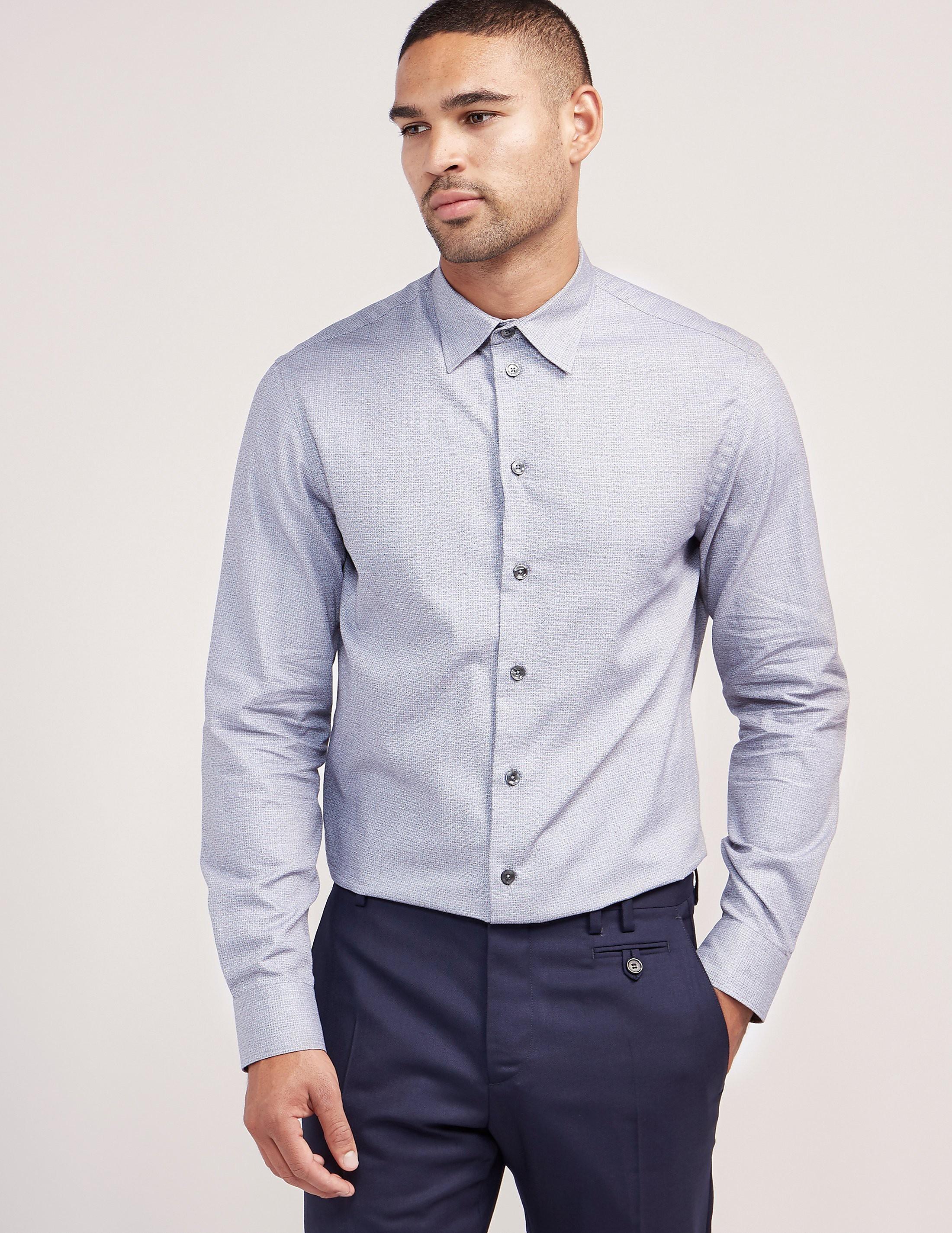 Armani Collezioni Sqaure Pattern Formal Shirt