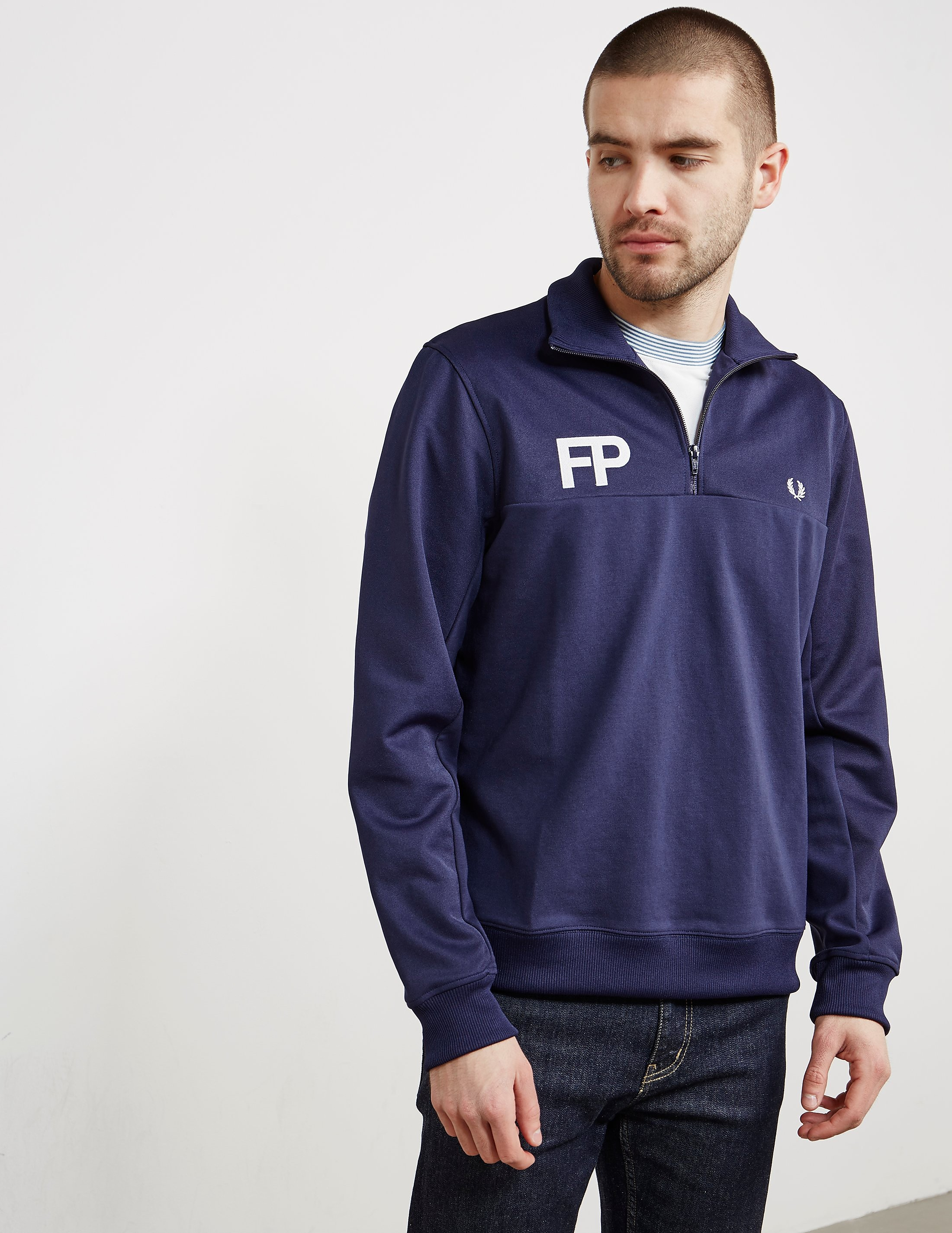 Fred Perry Half Zip Logo Track Top