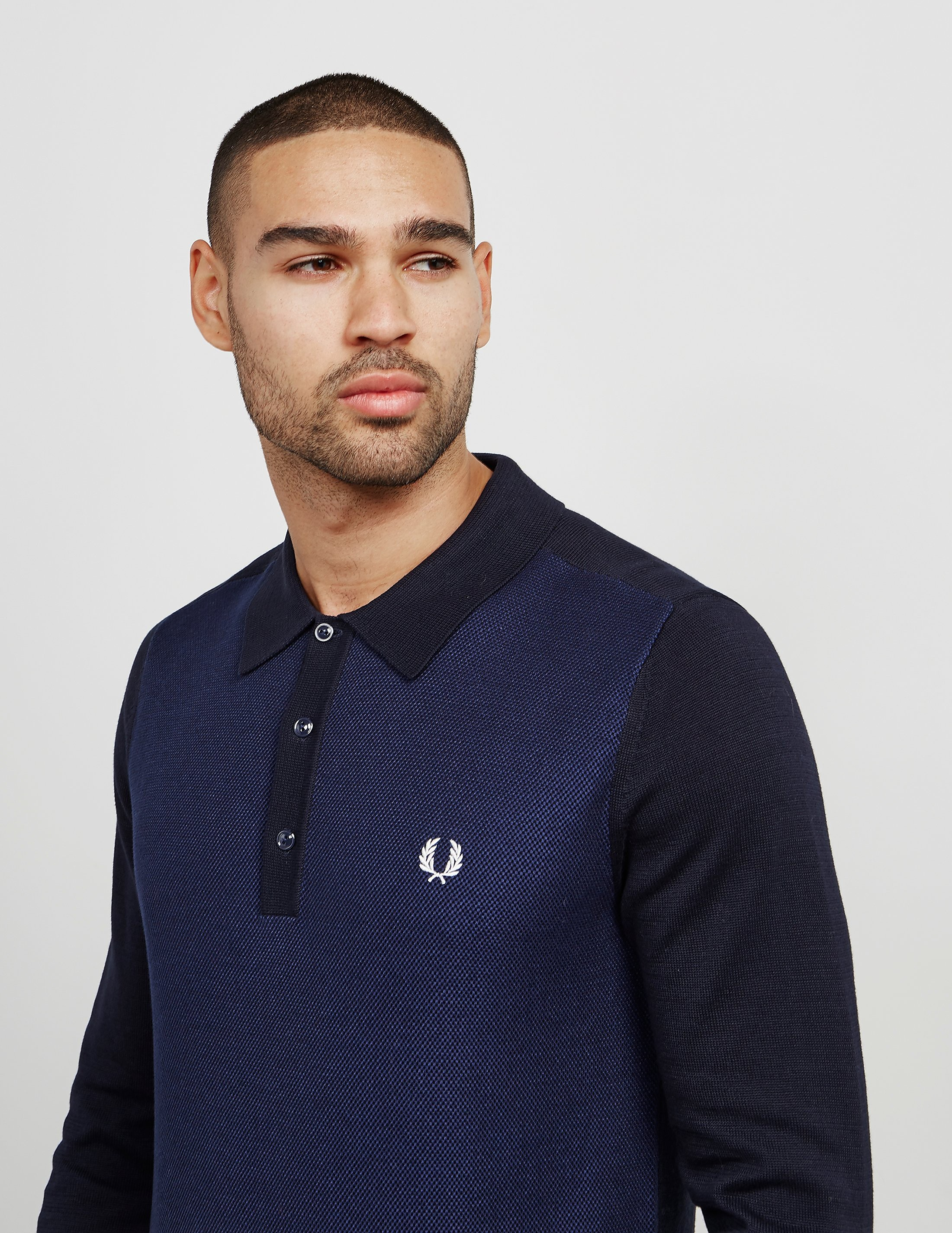 Fred Perry Knit Long Sleeve Polo Shirt
