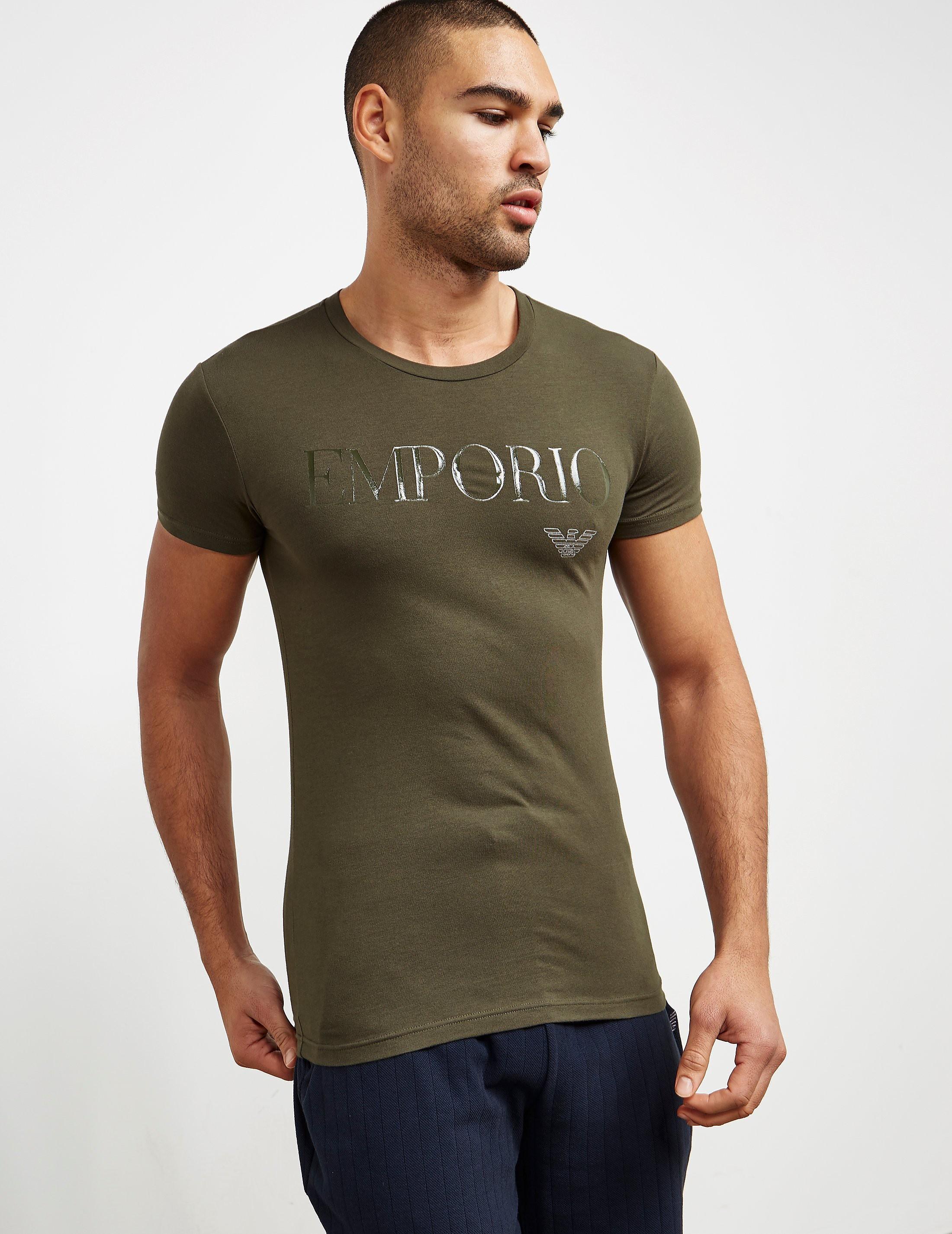 Emporio Armani Gel Print Short Sleeve T-Shirt