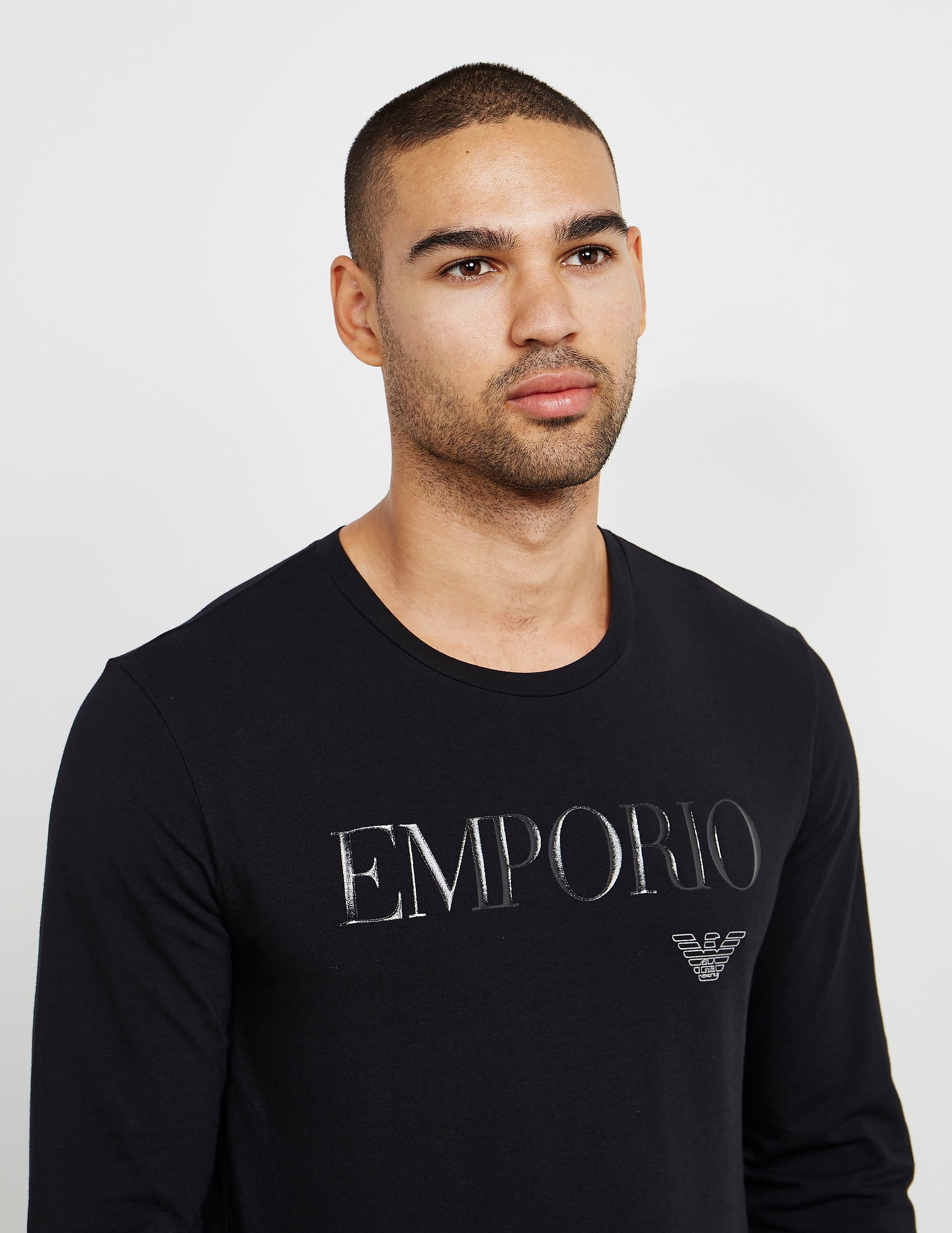Emporio Armani Gel Print Long Sleeve T-Shirt
