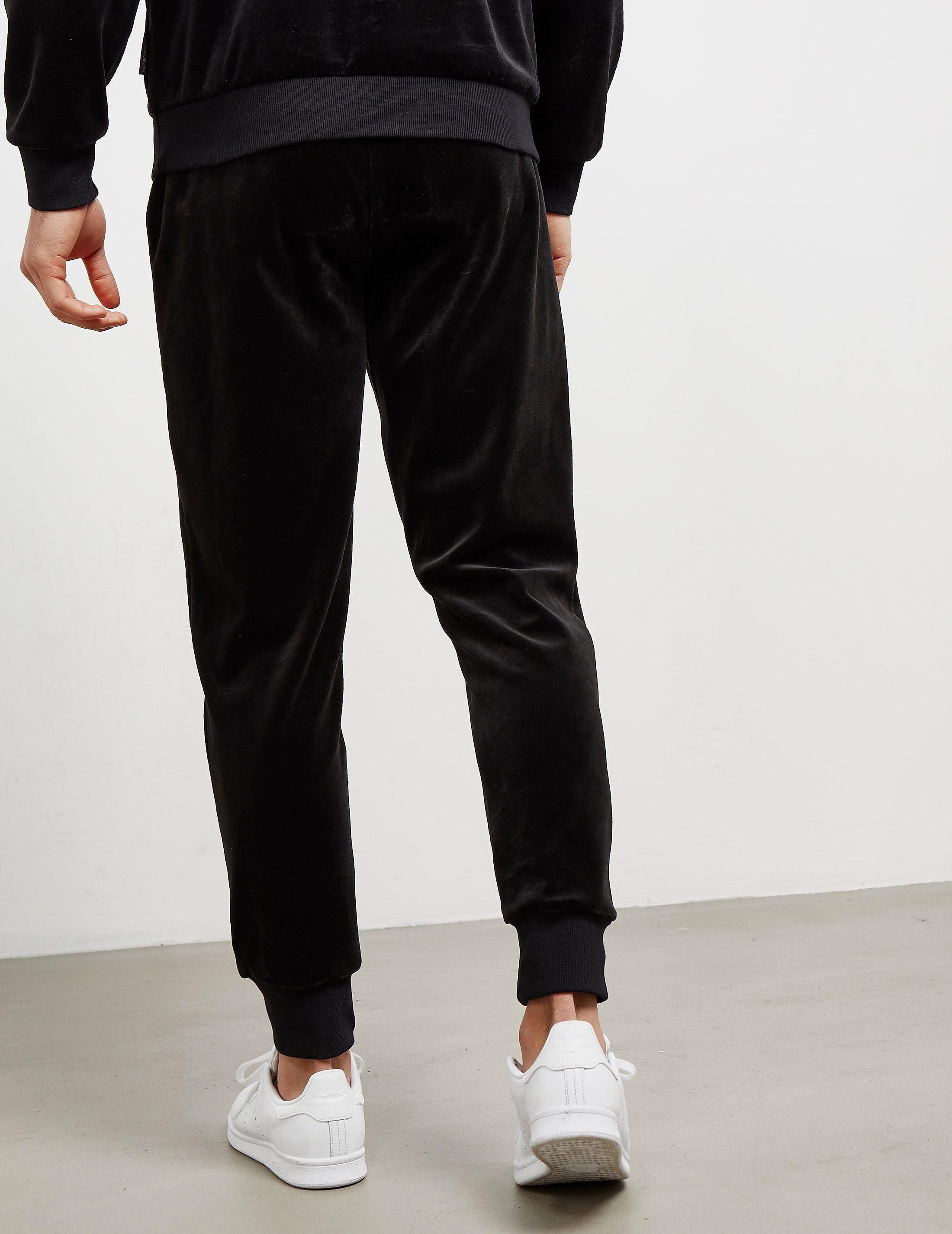 Emporio Armani Velour Cuffed Track Pants
