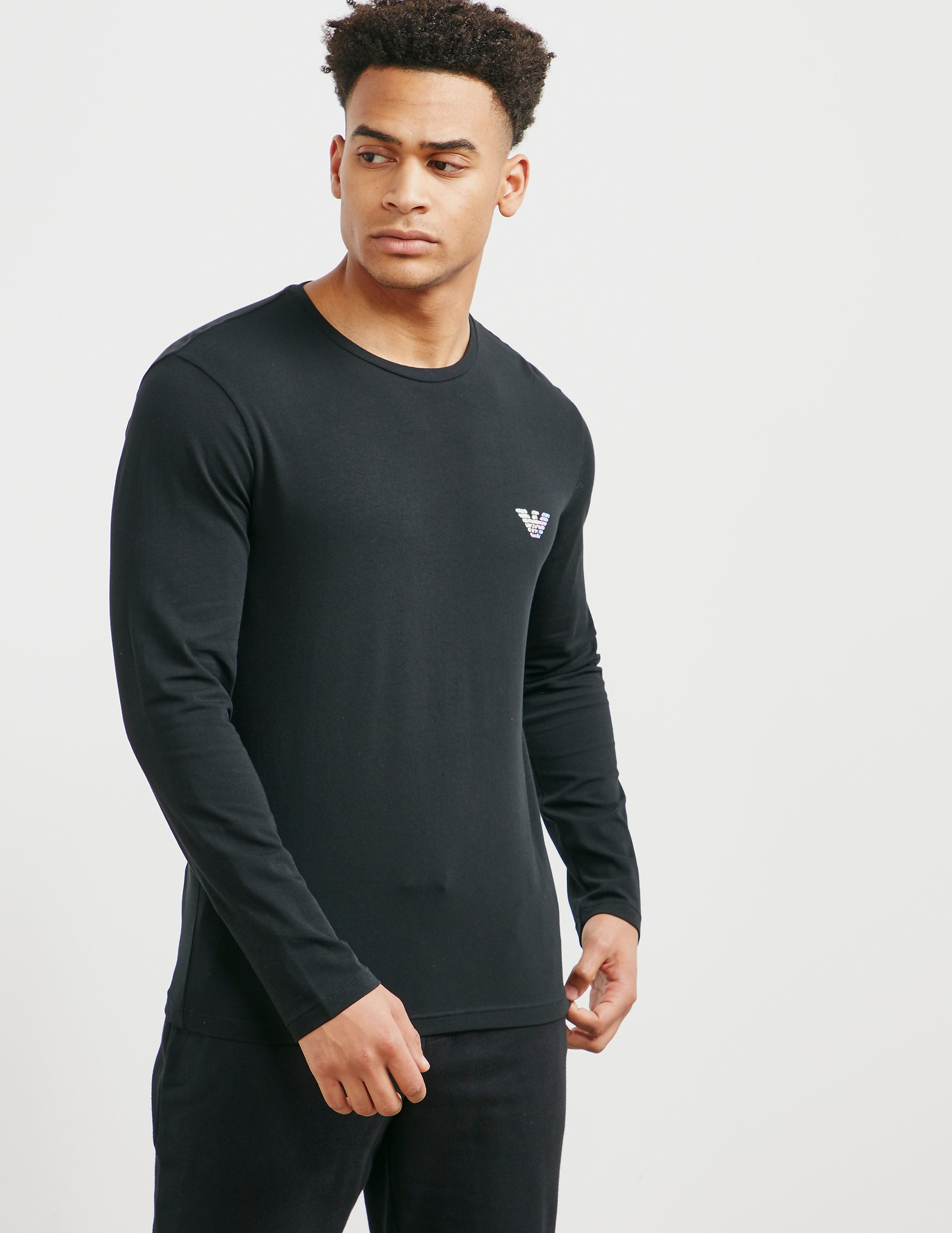 Emporio Armani Long Sleeve Hologram T-Shirt