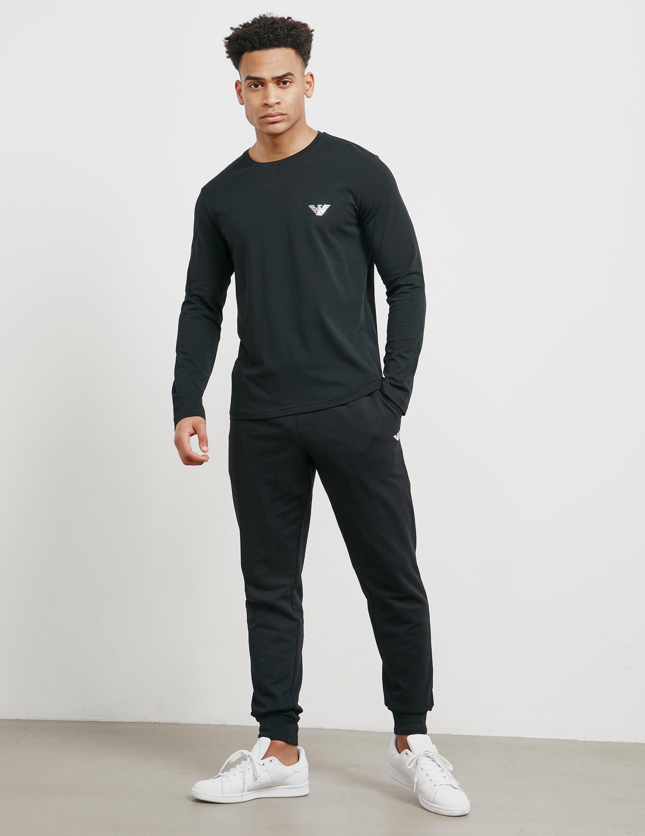 Emporio Armani Long Sleeve Hologram T-Shirt