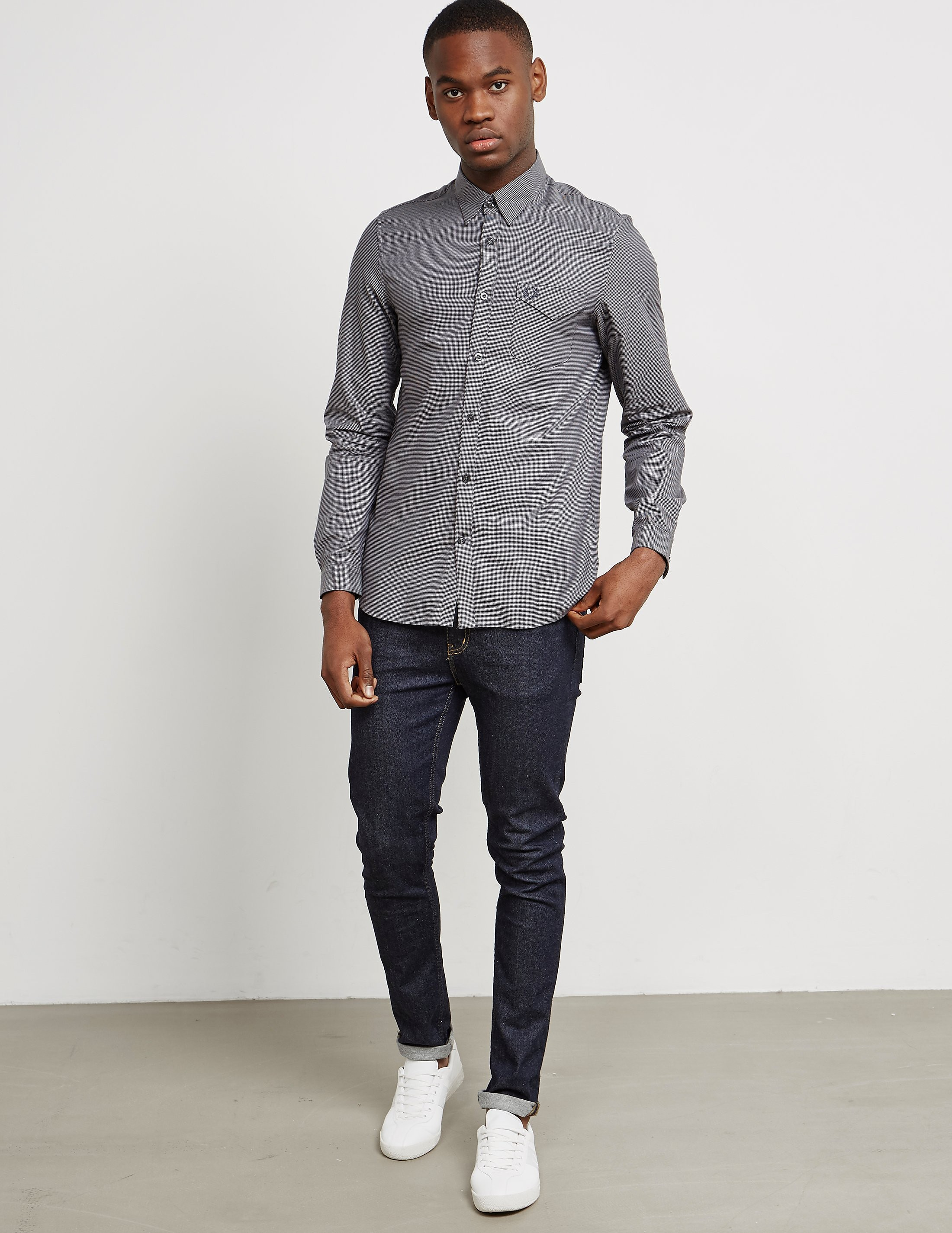 Fred Perry Oxford Pique Long Sleeve Shirt