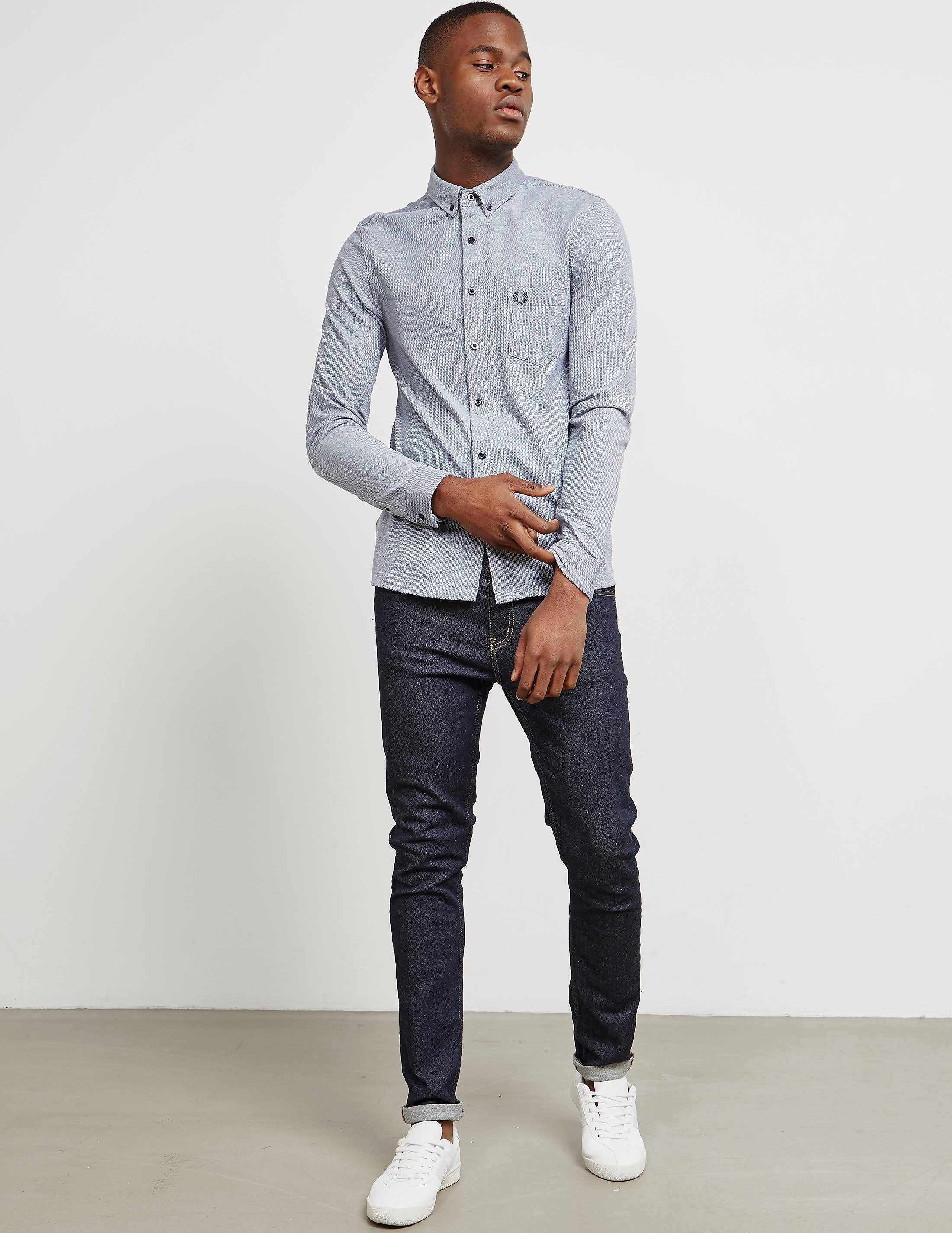 Fred Perry Micro Gingham Long Sleeve Shirt
