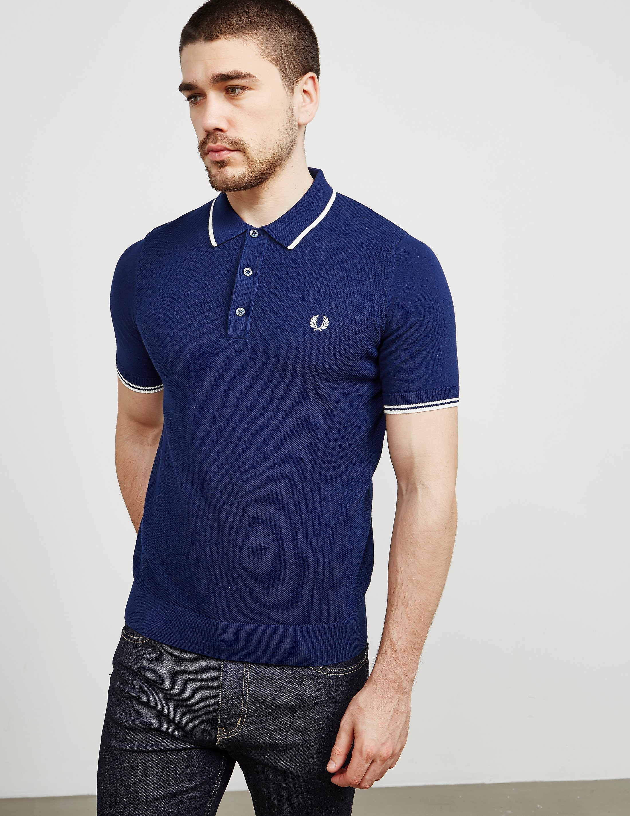 Fred Perry Short Sleeve Knitted Polo Shirt