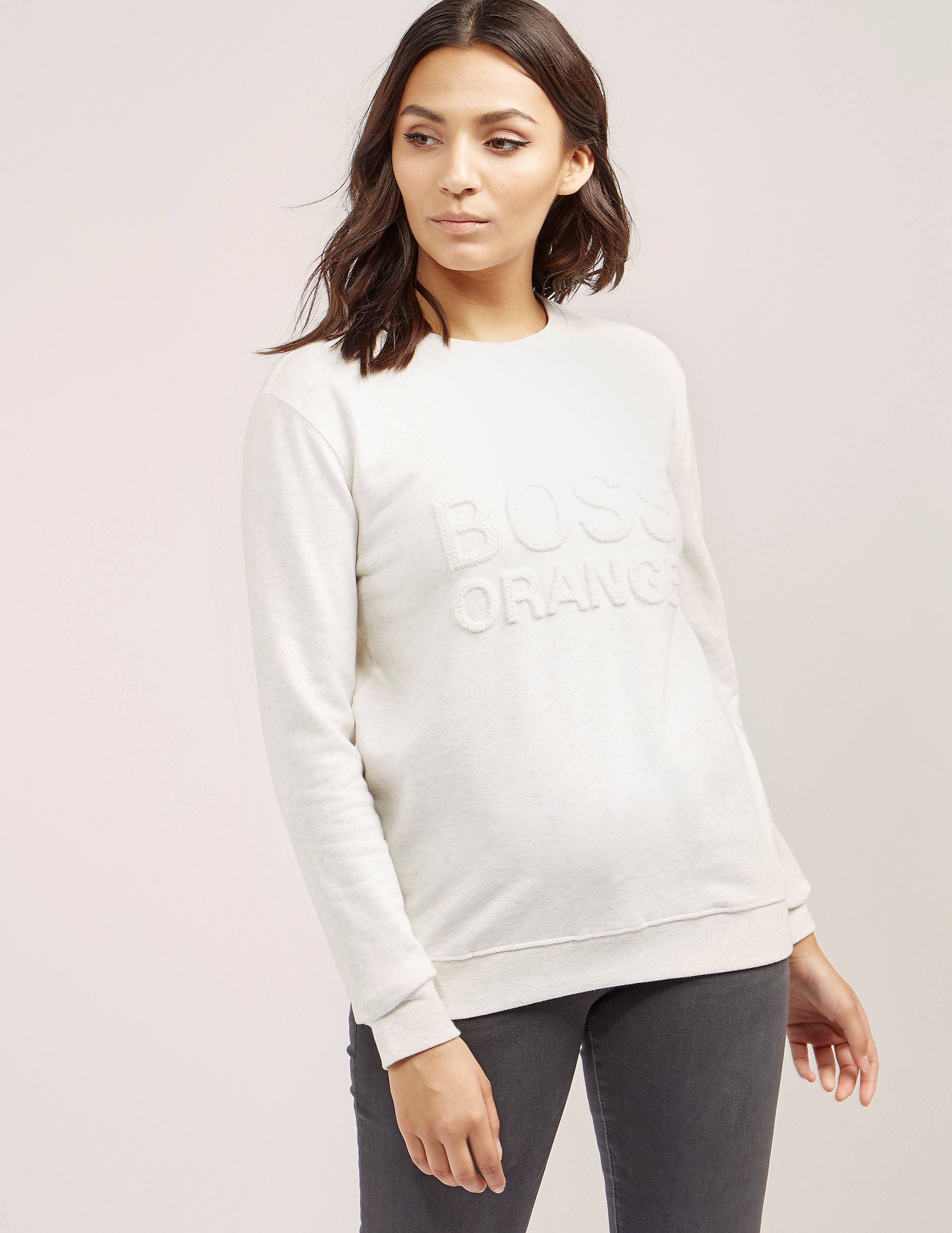 BOSS Orange Embroided Sweatshirt