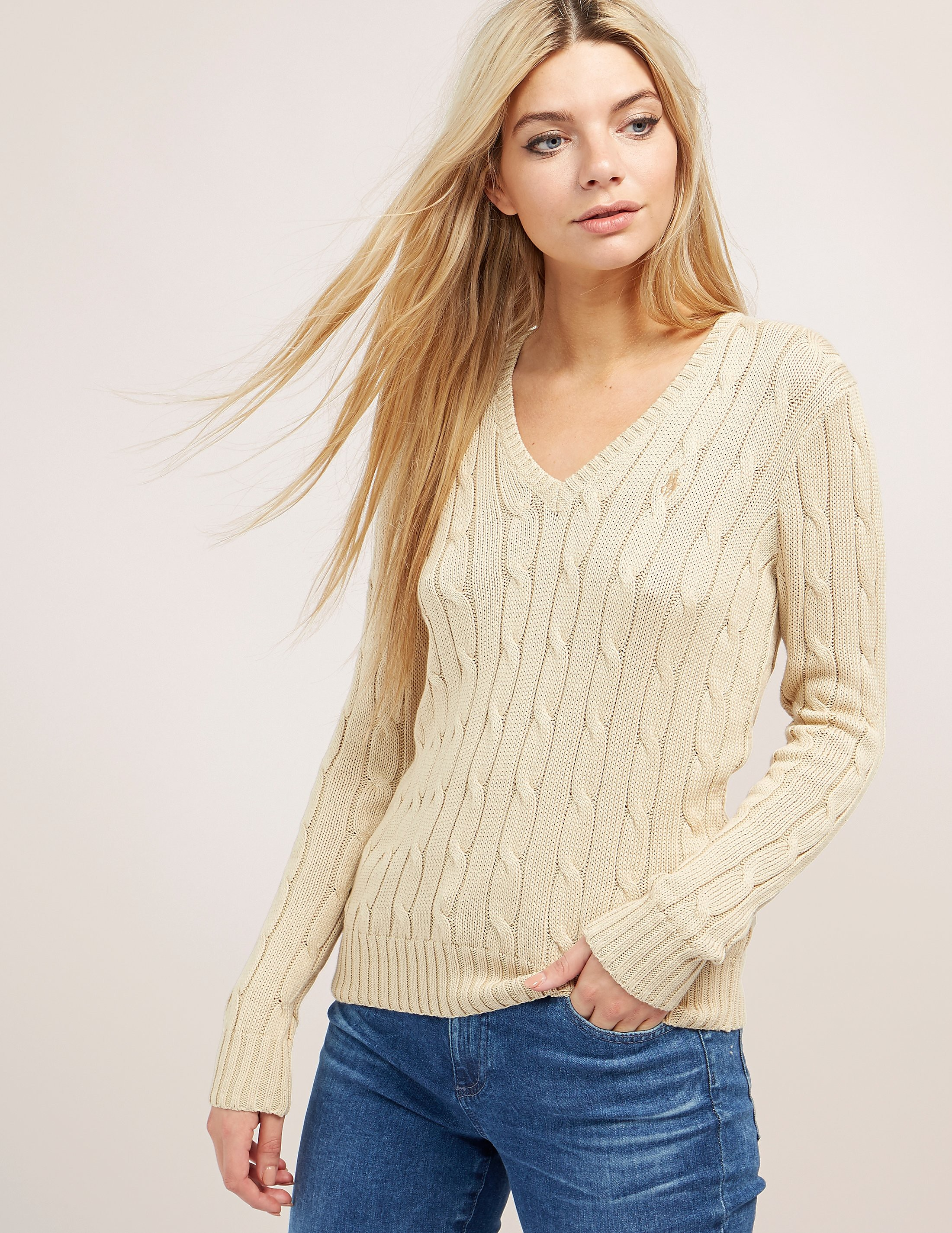 Polo Ralph Lauren Cable Knitted V-Neck Jumper