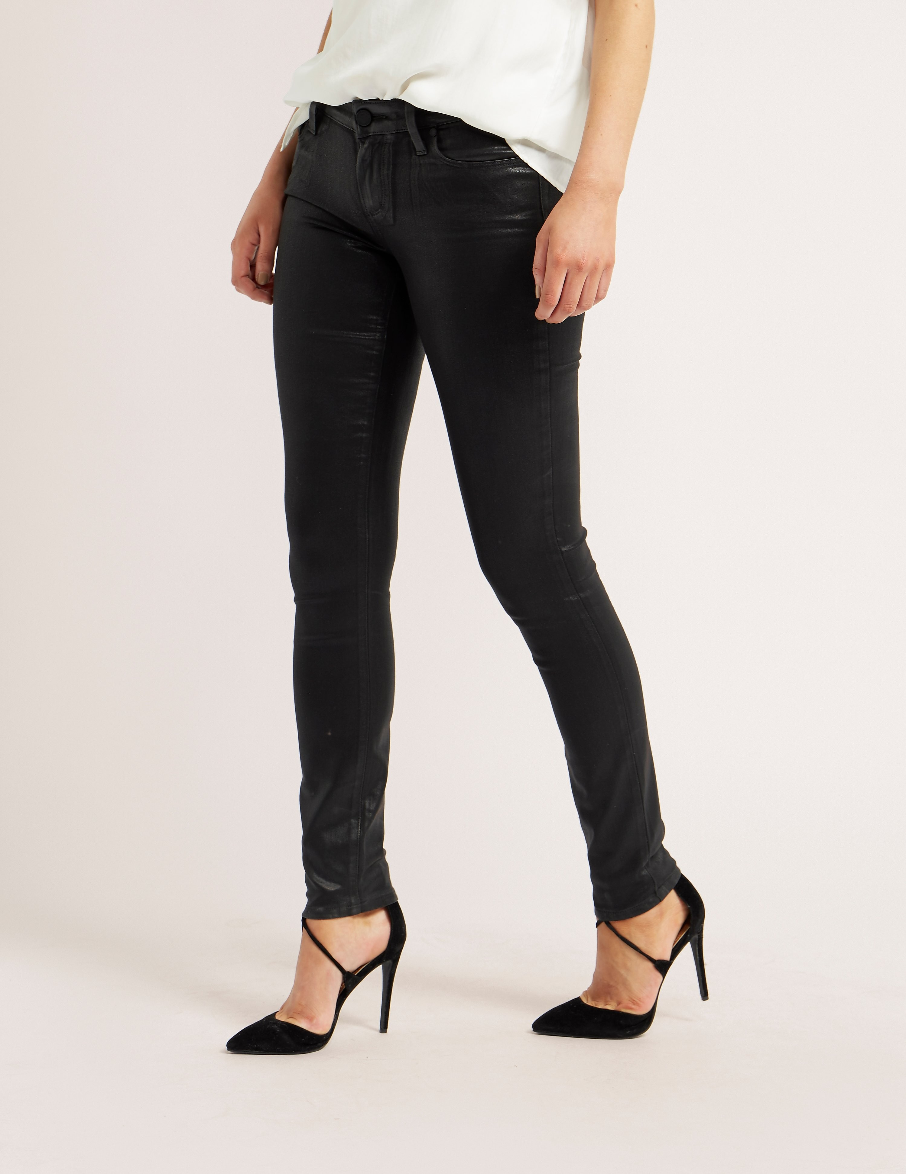 PAIGE Verdugo Coated Skinny Jeans