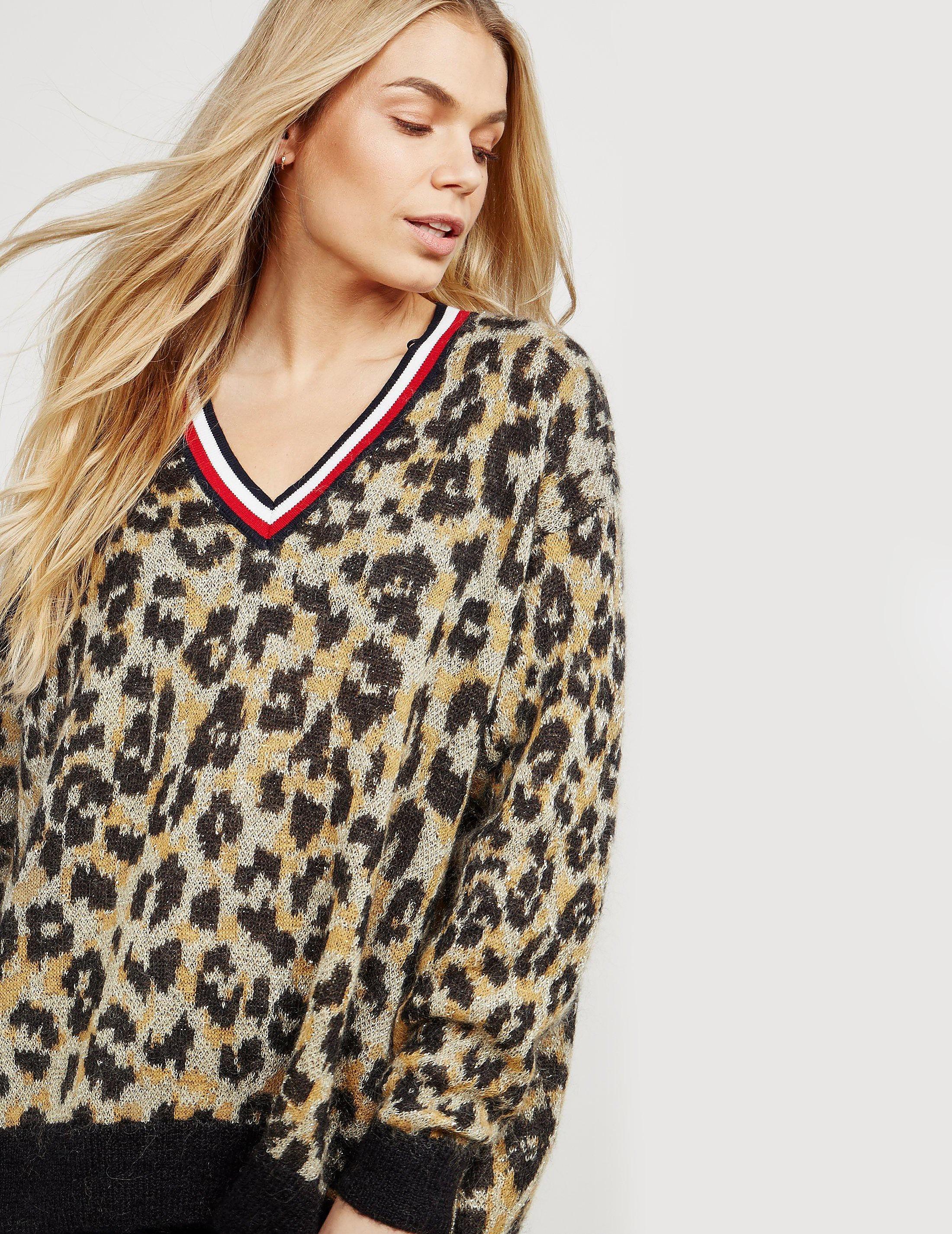 Tommy Hilfiger Akina Leopard Knit Jumper