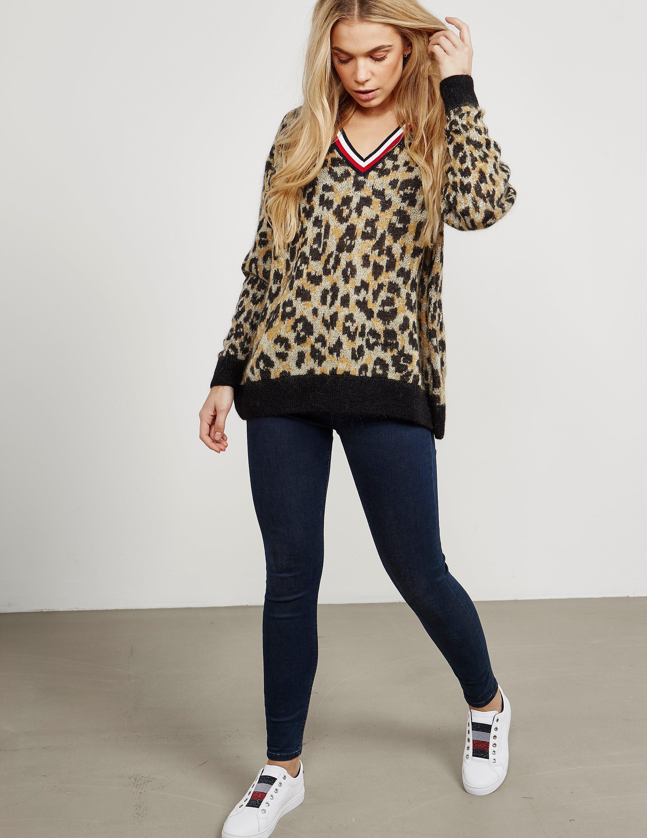 Tommy Hilfiger Akina Leopard Knitted Jumper