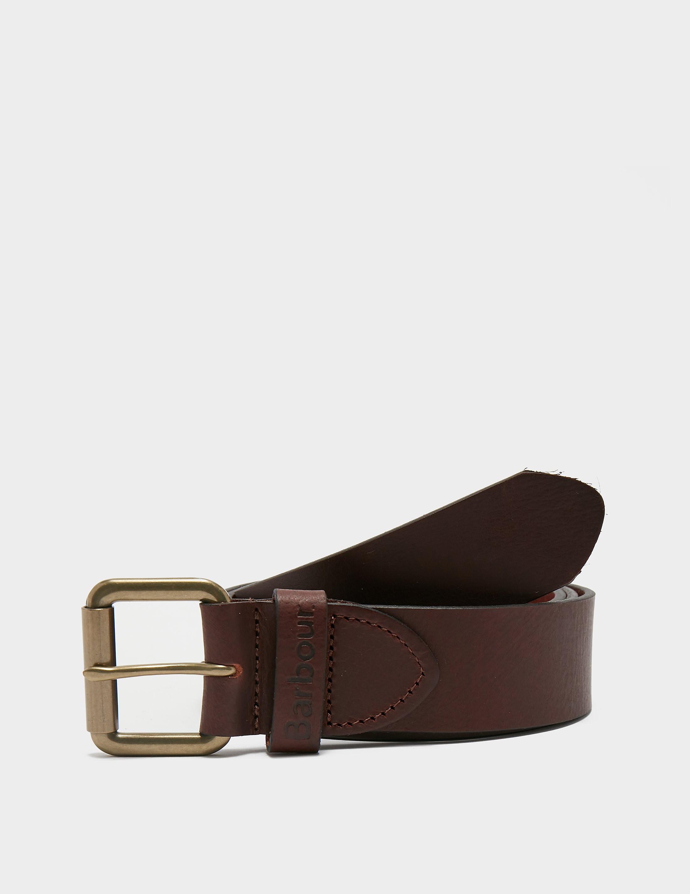 Barbour Matt Leather Belt