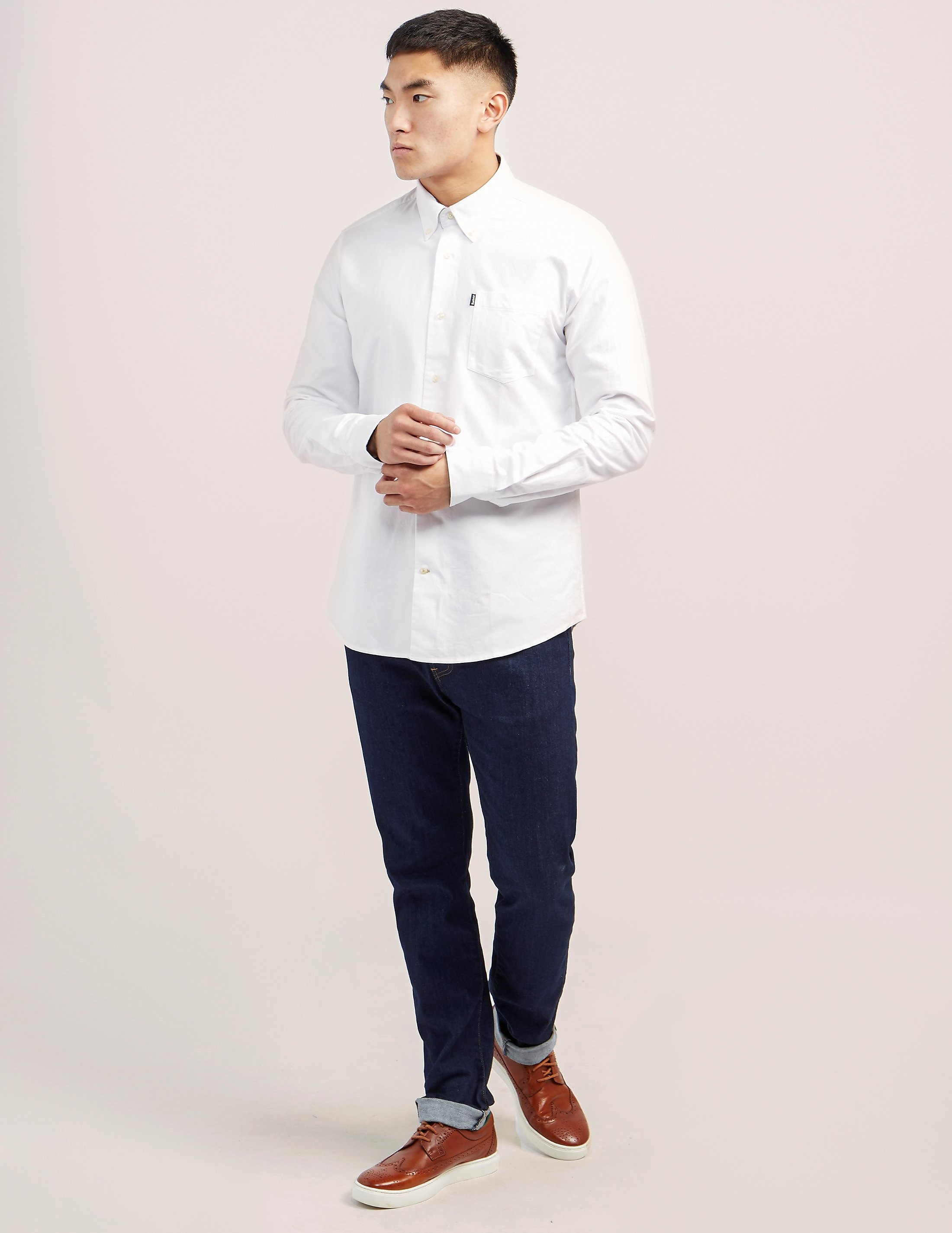 Barbour Tailored Fit Long Sleeve Oxford Shirt