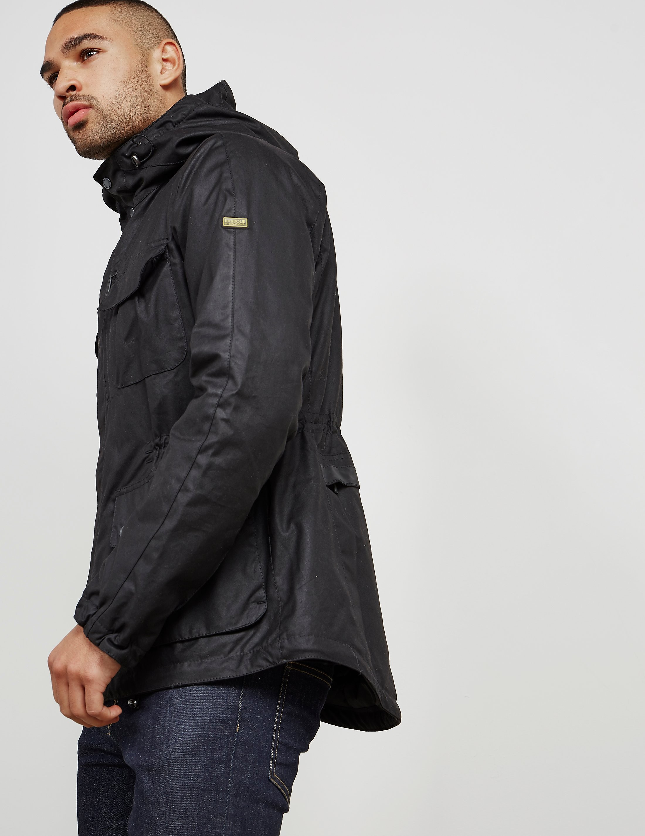 Barbour International Padded Delta Waxed Jacket