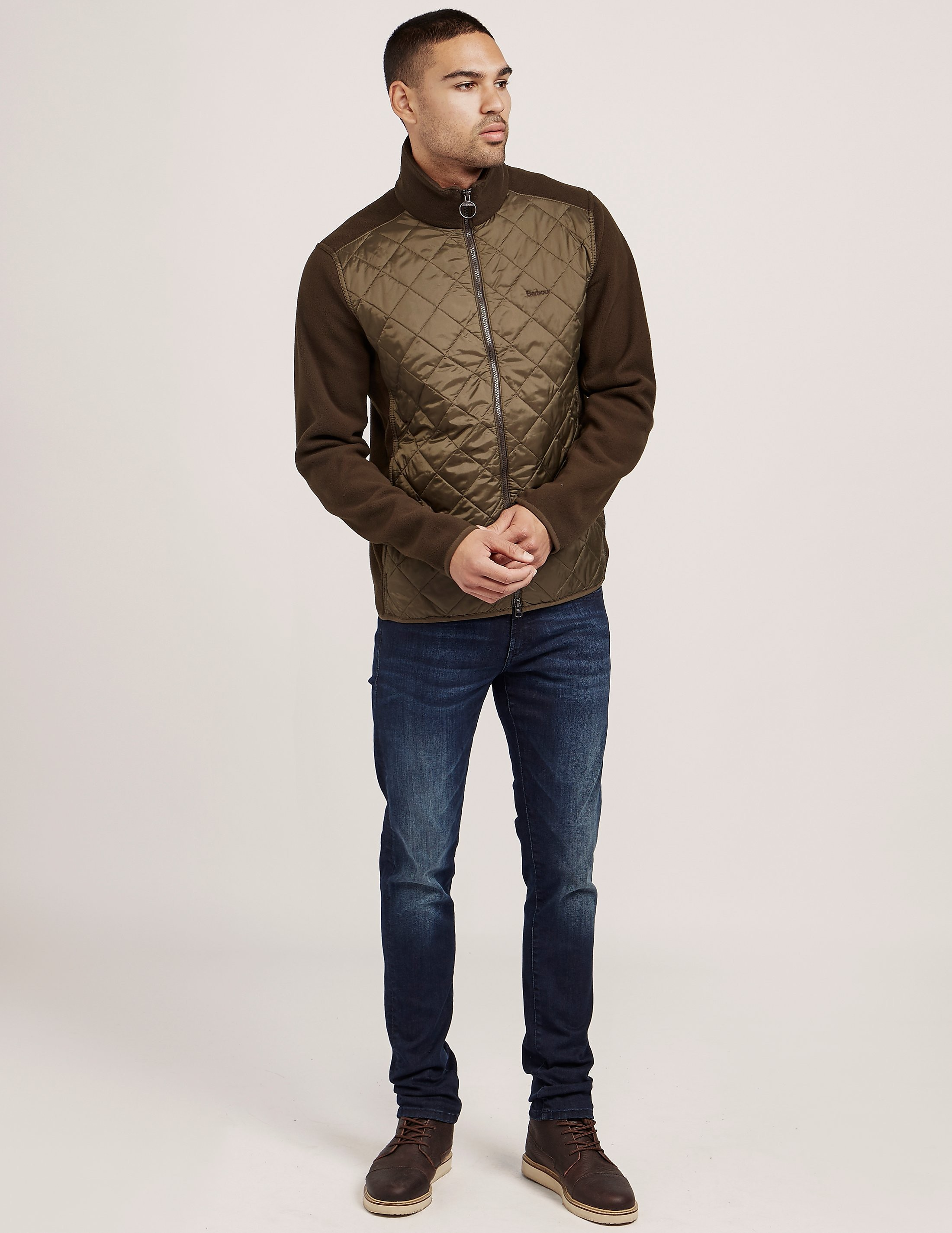 Barbour Quilted Fleece Sweatshirt