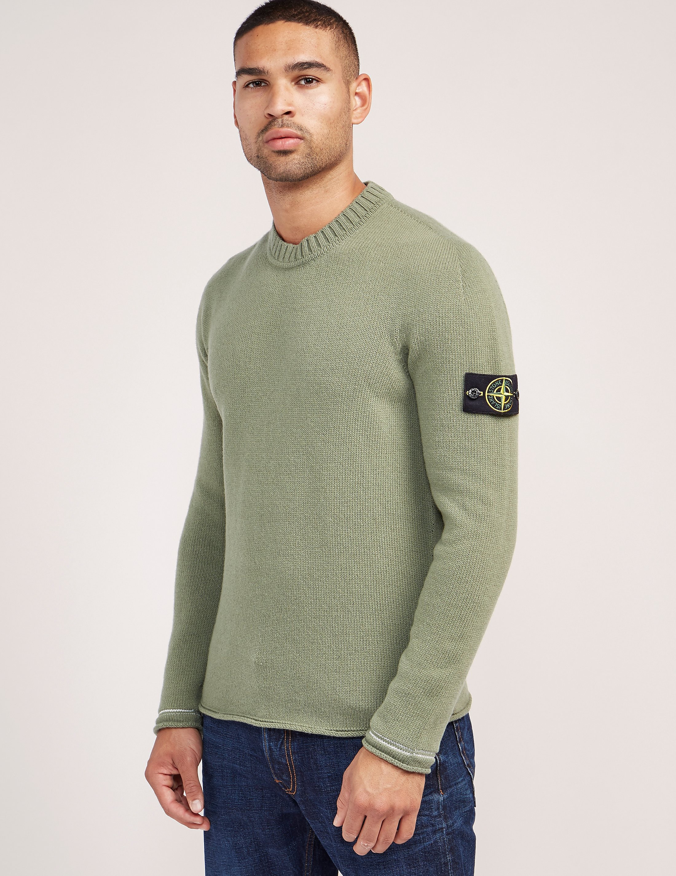 Stone Island Tipped Crew Knitted Jumper