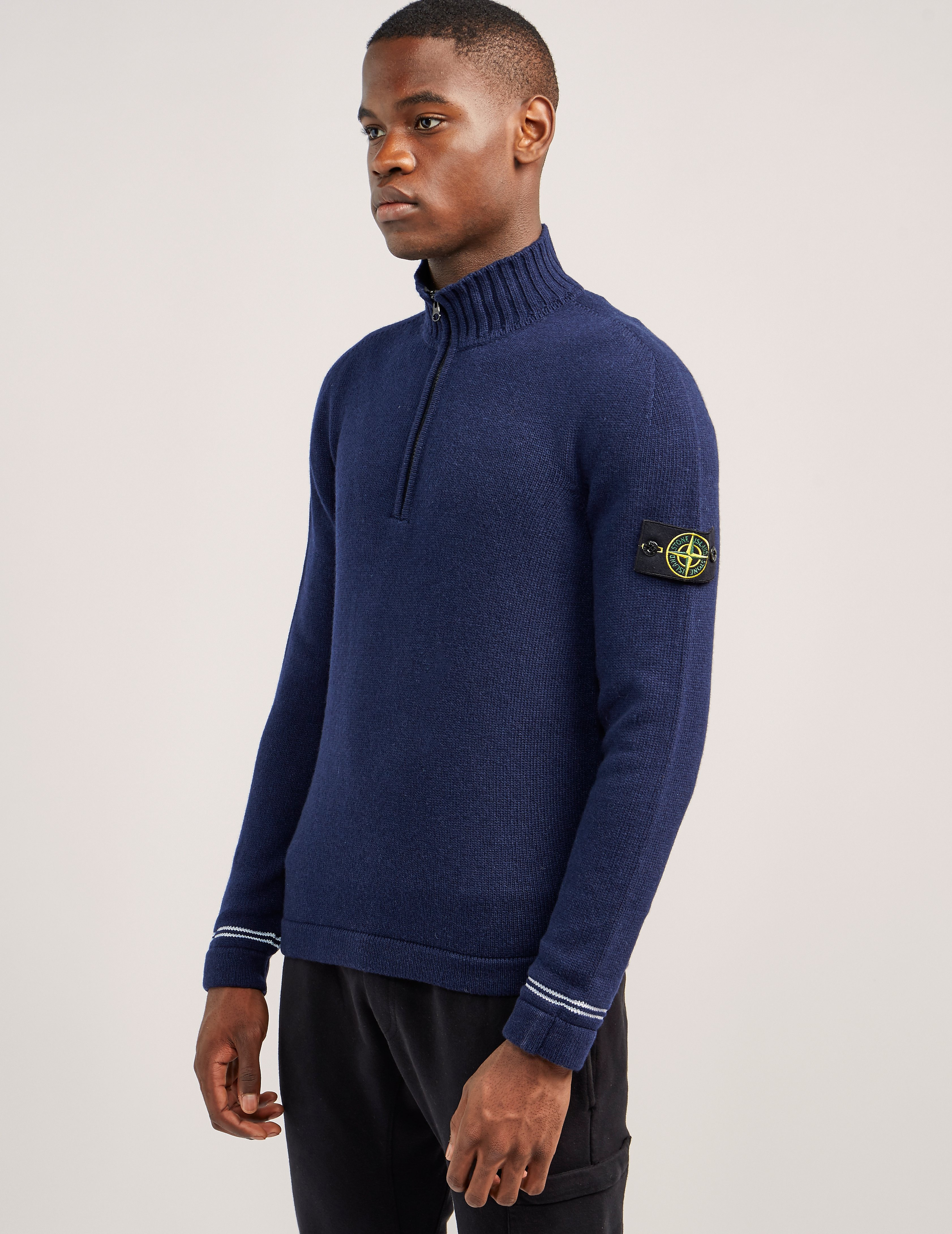 Stone Island Tipped 1/4 Zip Knit