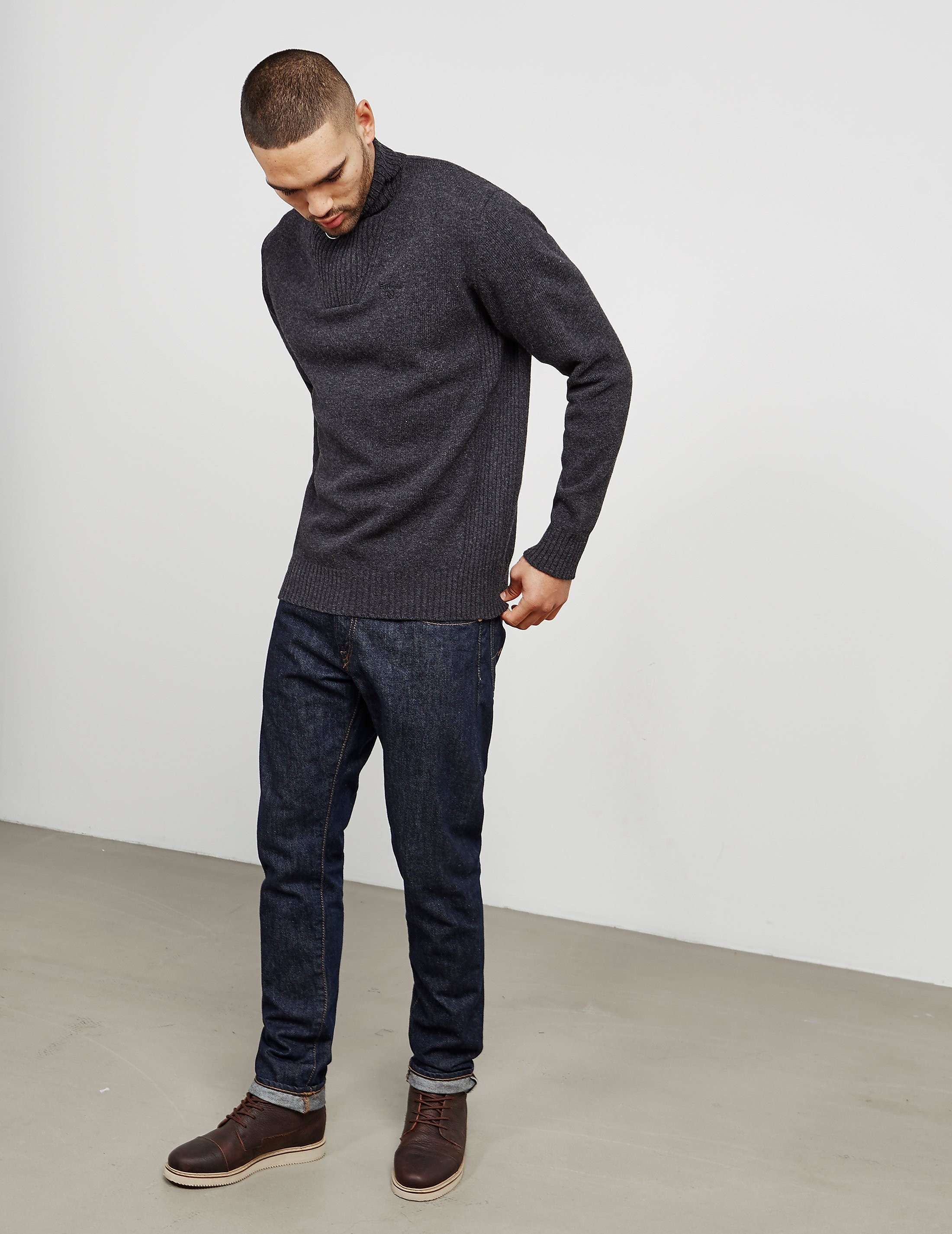 Barbour Half Zip Knitted Jumper