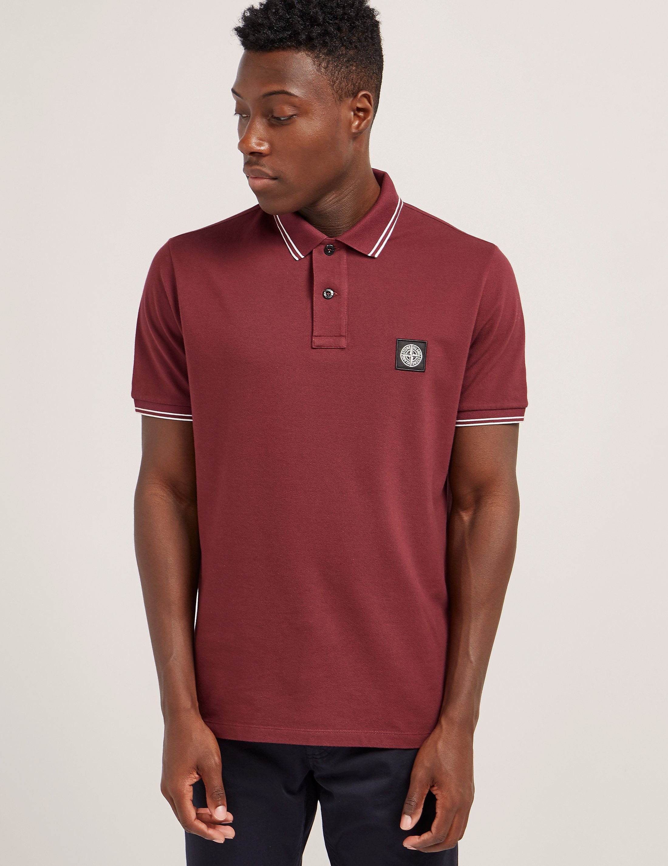 Stone Island Tipped Short Sleeve Polo Shirt